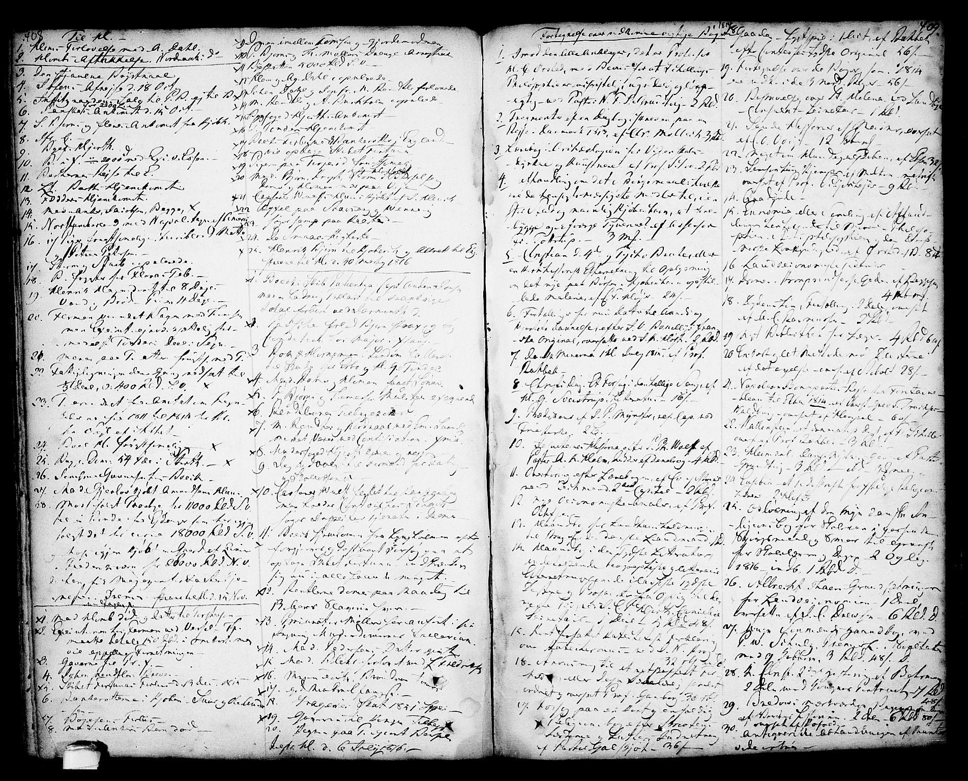 SAKO, Kragerø kirkebøker, F/Fa/L0001: Ministerialbok nr. 1, 1702-1766, s. 408-409