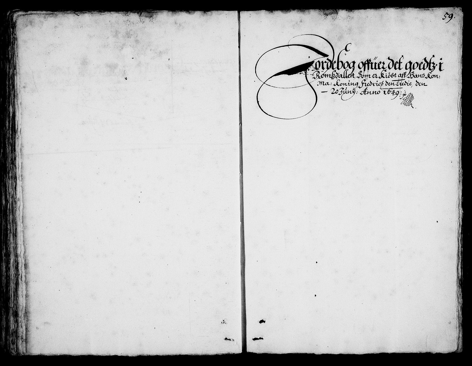 RA, Rentekammeret inntil 1814, Realistisk ordnet avdeling, On/L0001: Statens gods, 1651, s. 1058b-1059a