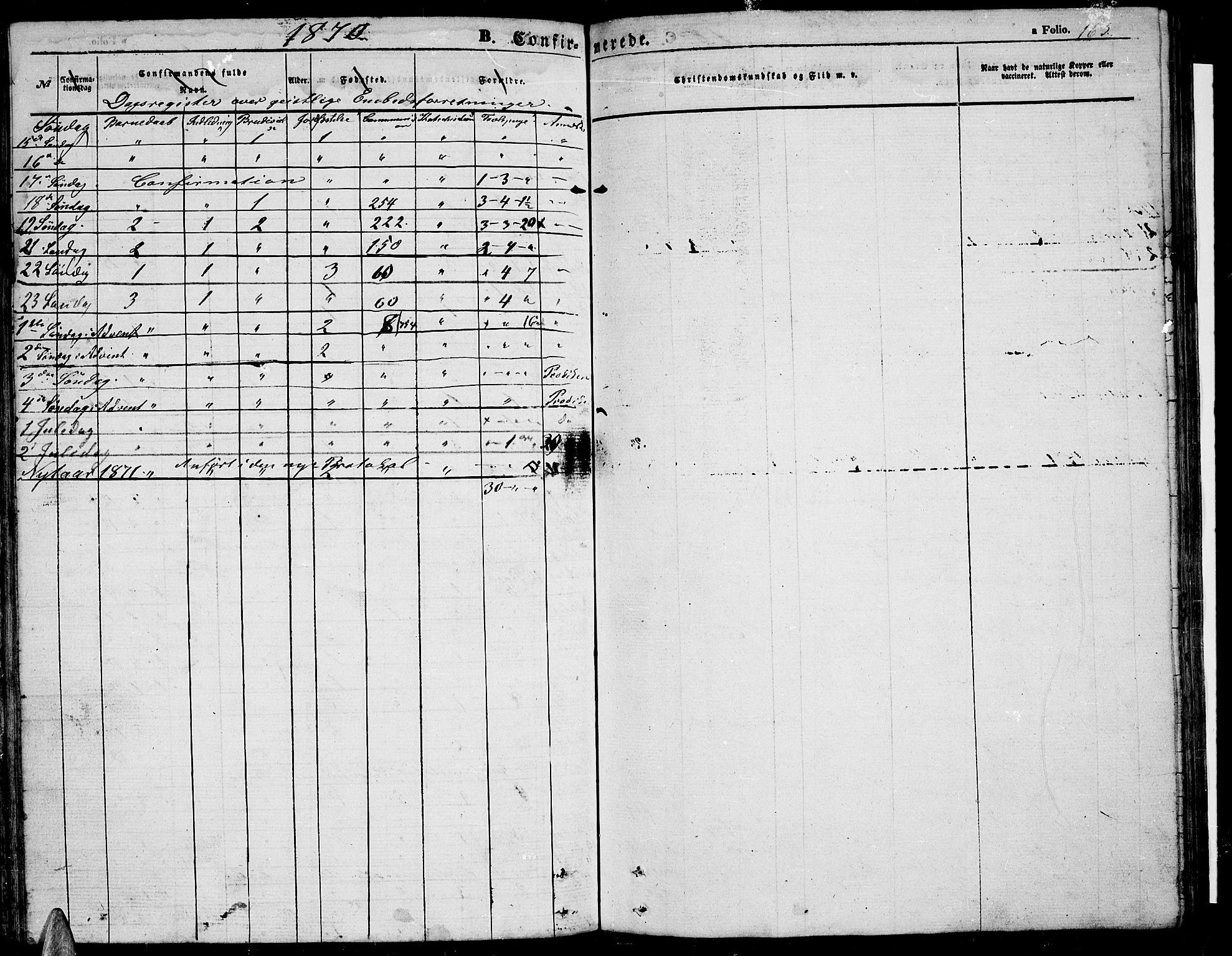SAT, Ministerialprotokoller, klokkerbøker og fødselsregistre - Nordland, 816/L0251: Klokkerbok nr. 816C01, 1852-1870, s. 163