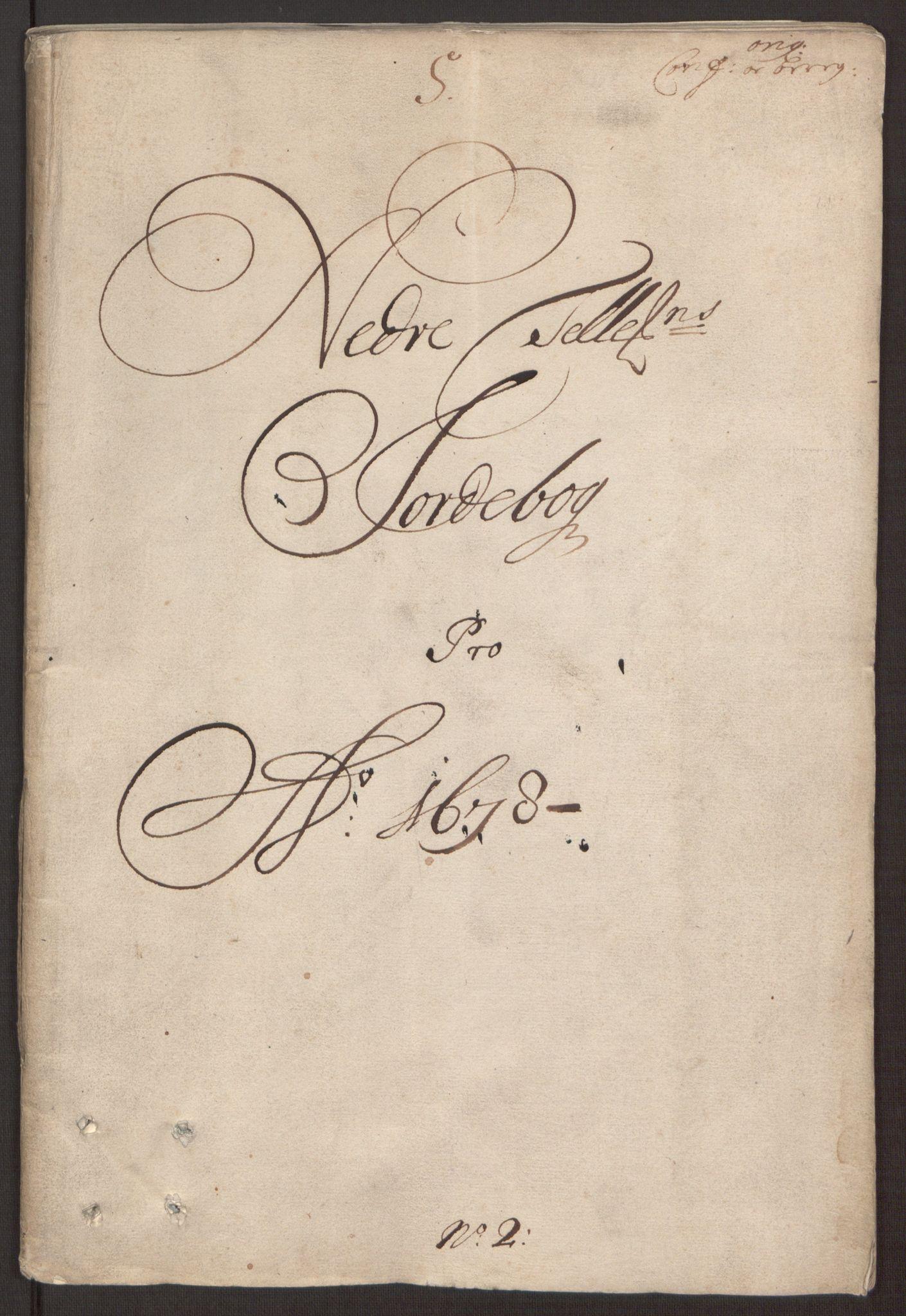 RA, Rentekammeret inntil 1814, Reviderte regnskaper, Fogderegnskap, R35/L2069: Fogderegnskap Øvre og Nedre Telemark, 1678, s. 3