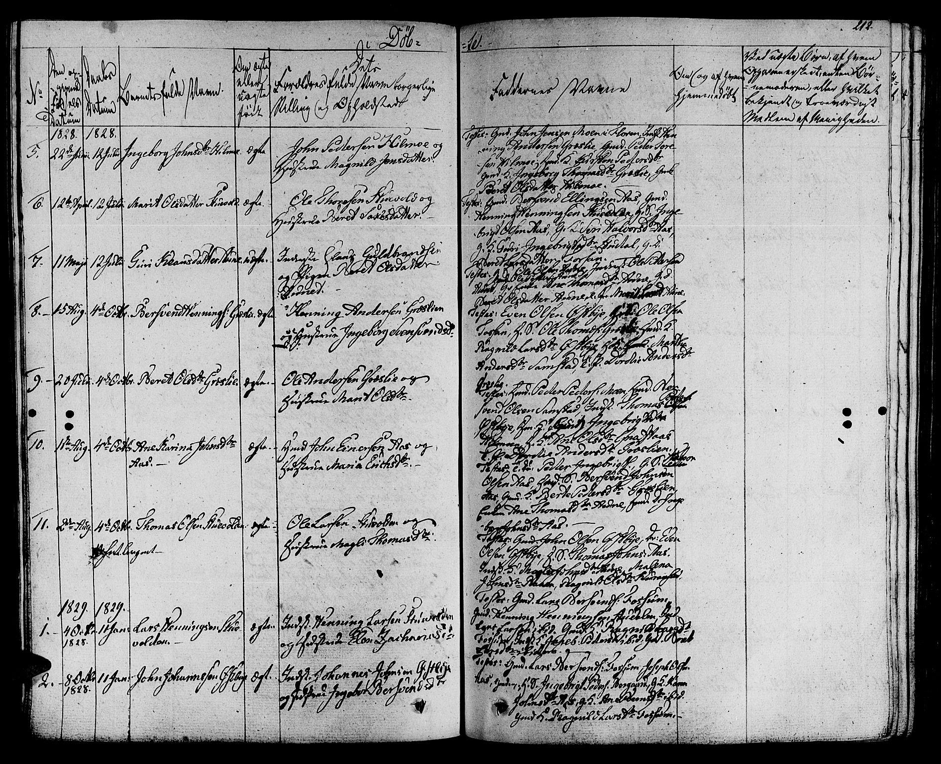 SAT, Ministerialprotokoller, klokkerbøker og fødselsregistre - Sør-Trøndelag, 695/L1144: Ministerialbok nr. 695A05 /2, 1824-1842, s. 212