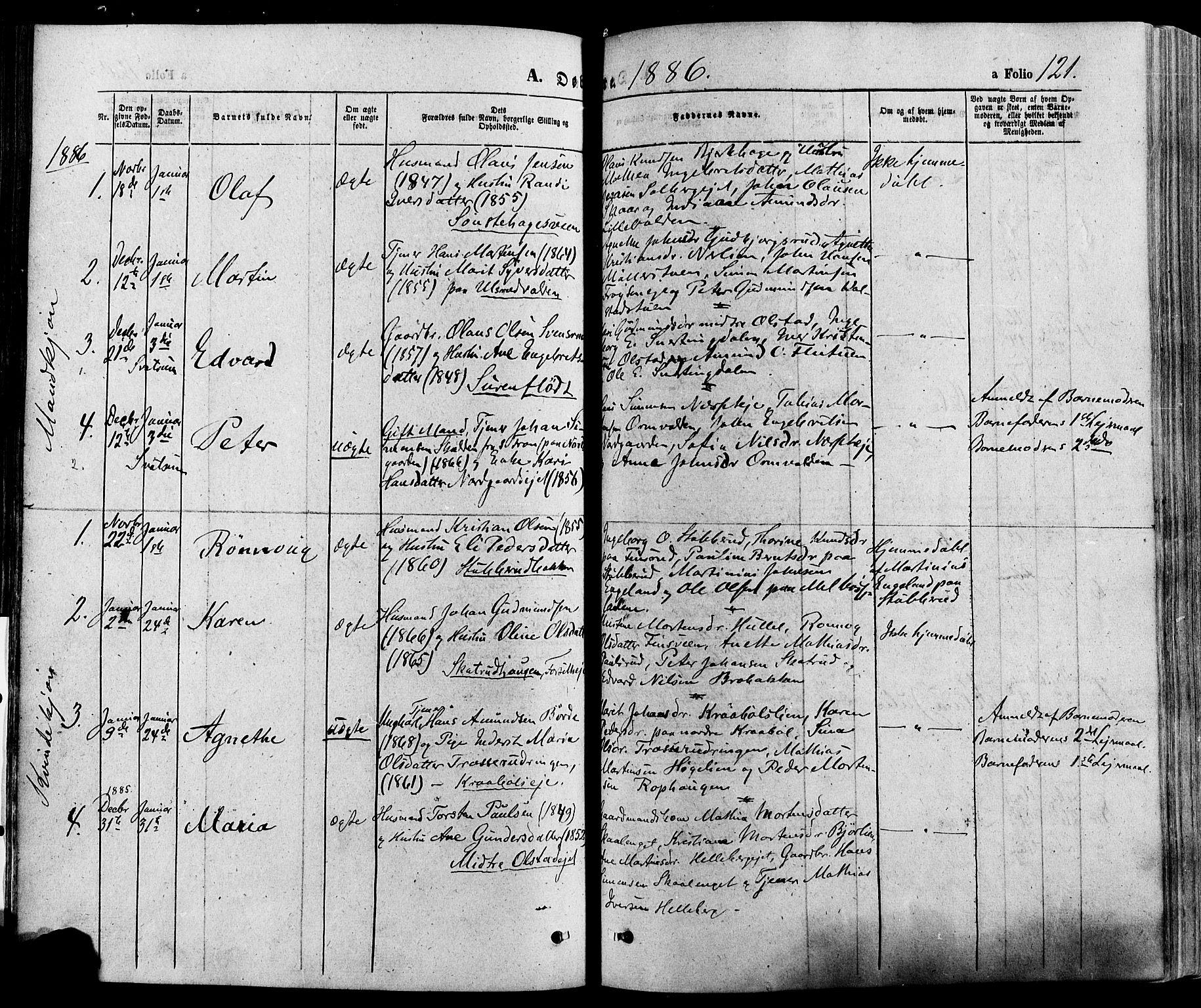 SAH, Gausdal prestekontor, Ministerialbok nr. 10, 1867-1886, s. 121