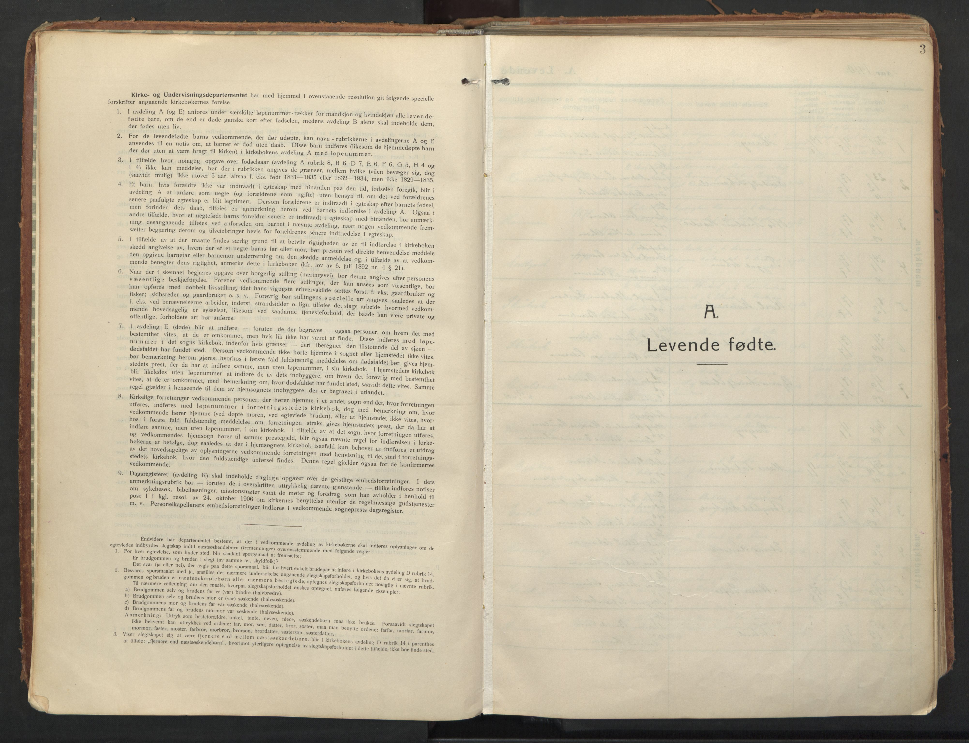 SATØ, Balsfjord sokneprestembete, Ministerialbok nr. 8, 1910-1927, s. 3