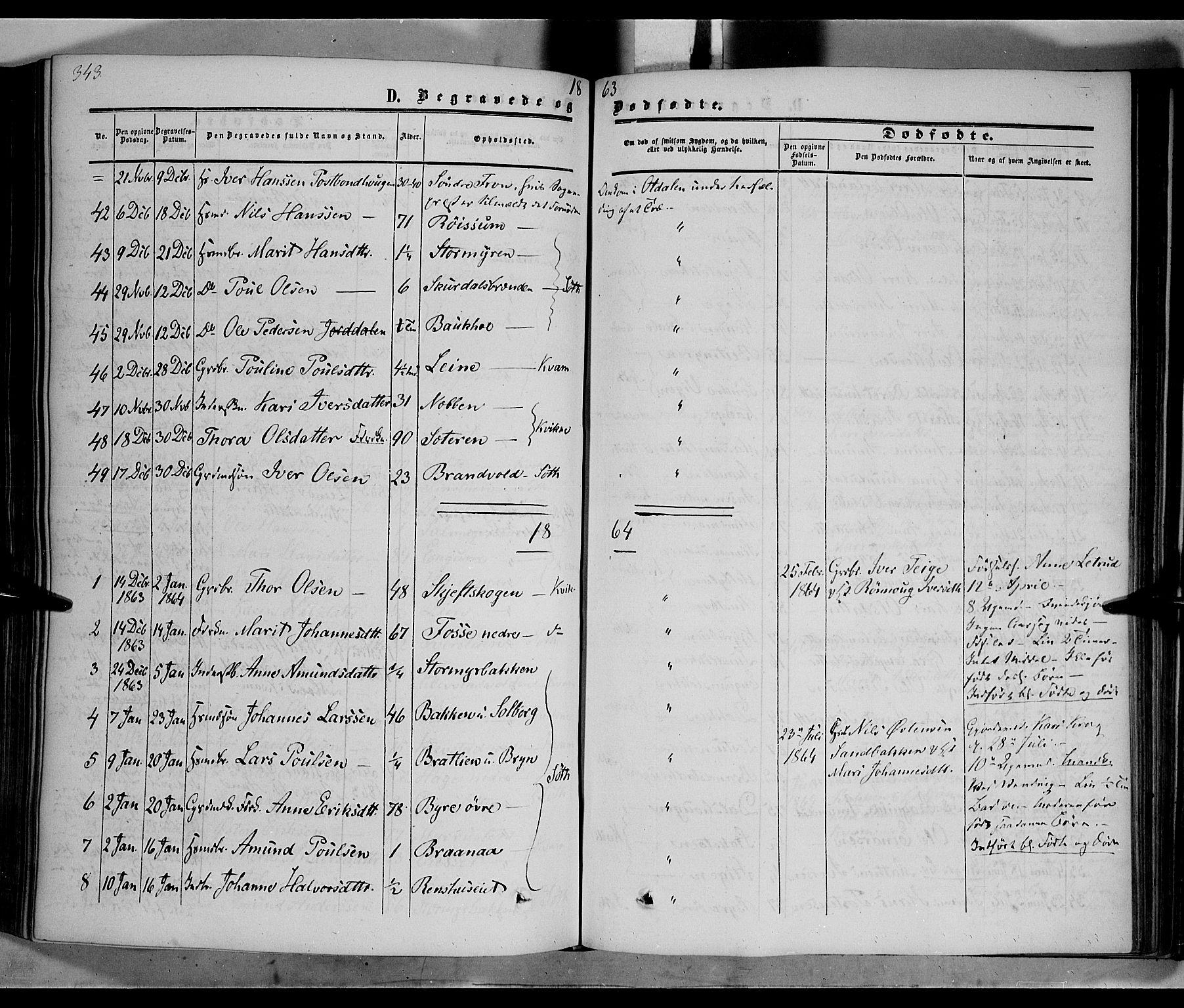 SAH, Nord-Fron prestekontor, Ministerialbok nr. 1, 1851-1864, s. 343