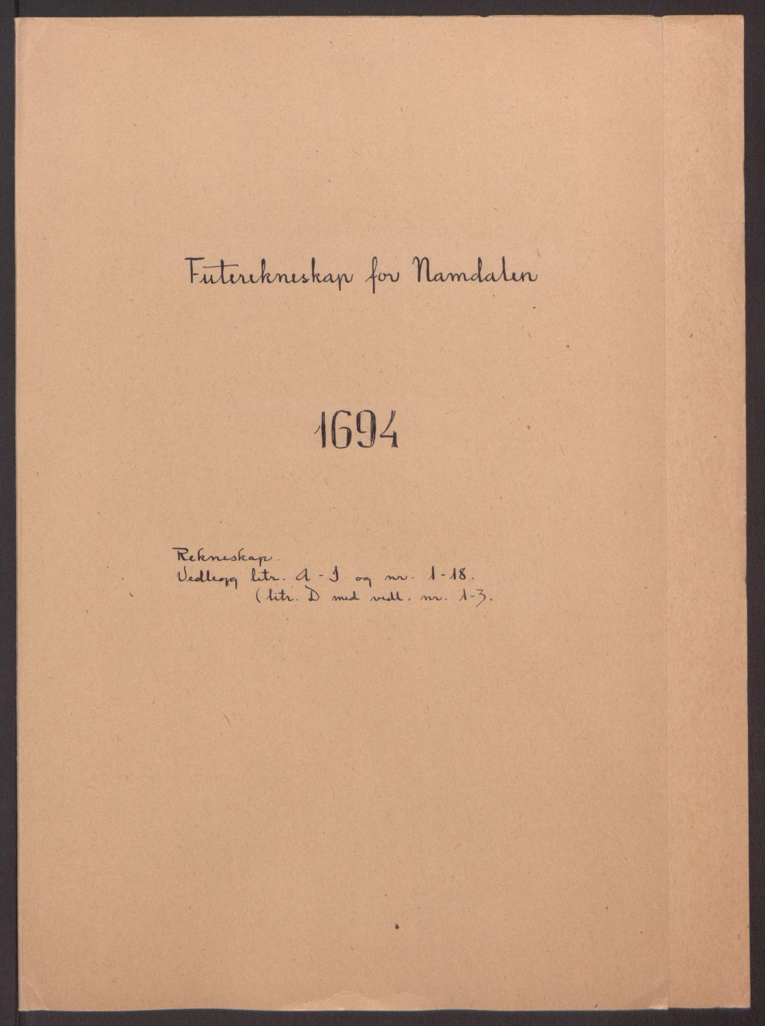 RA, Rentekammeret inntil 1814, Reviderte regnskaper, Fogderegnskap, R64/L4424: Fogderegnskap Namdal, 1692-1695, s. 331