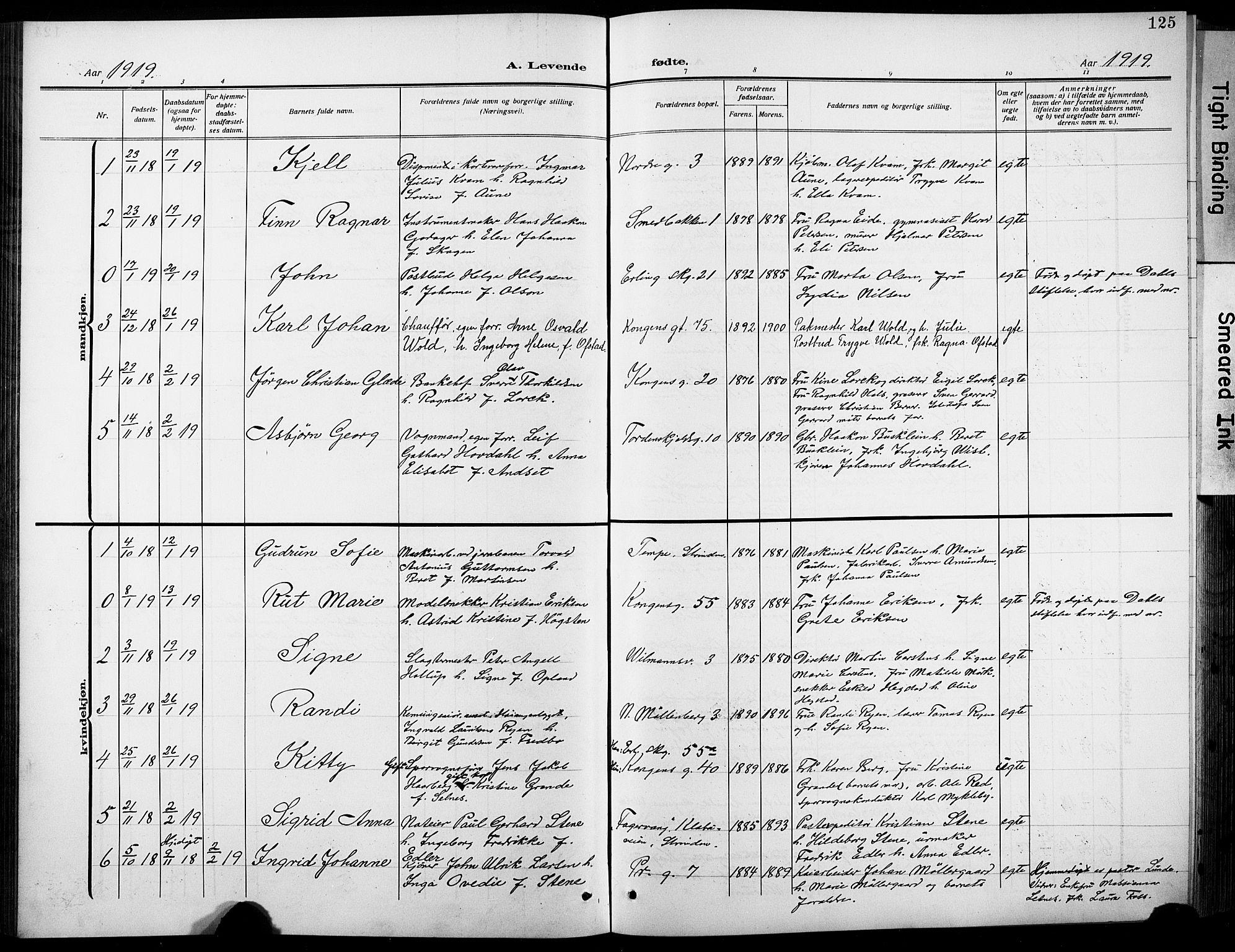 SAT, Ministerialprotokoller, klokkerbøker og fødselsregistre - Sør-Trøndelag, 601/L0096: Klokkerbok nr. 601C14, 1911-1931, s. 125