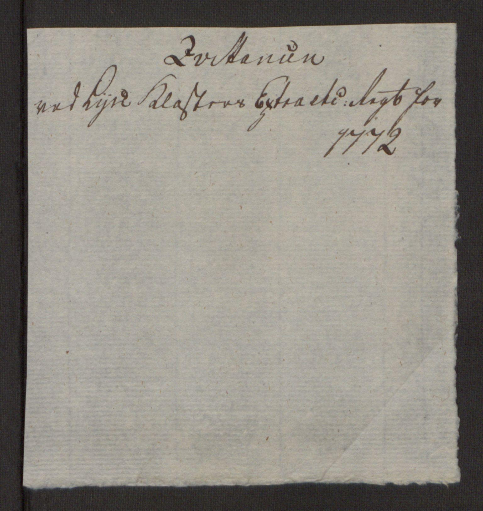 RA, Rentekammeret inntil 1814, Reviderte regnskaper, Fogderegnskap, R50/L3180: Ekstraskatten Lyse kloster, 1762-1783, s. 234