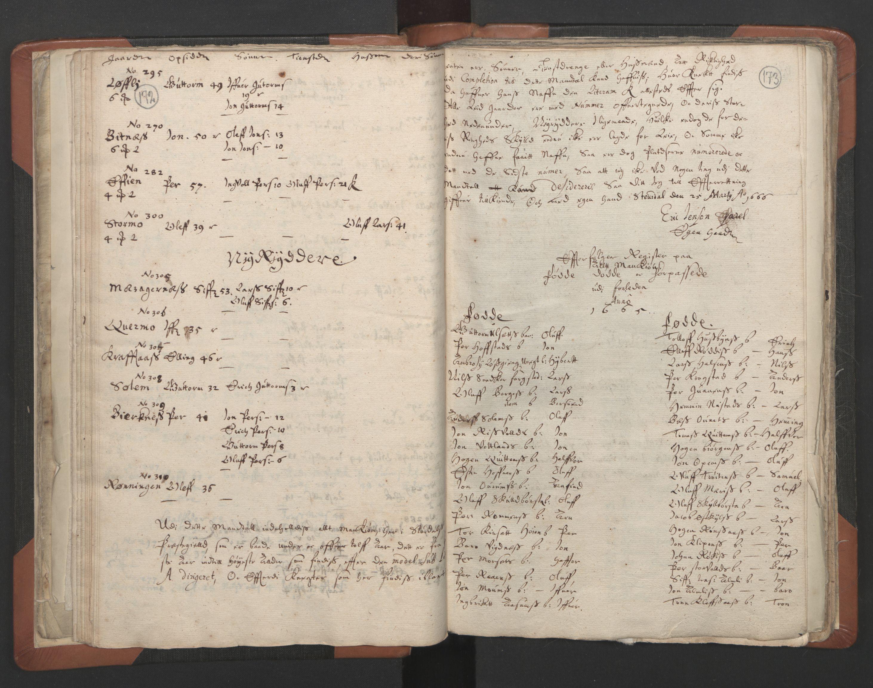 RA, Sogneprestenes manntall 1664-1666, nr. 32: Innherad prosti, 1664-1666, s. 172-173