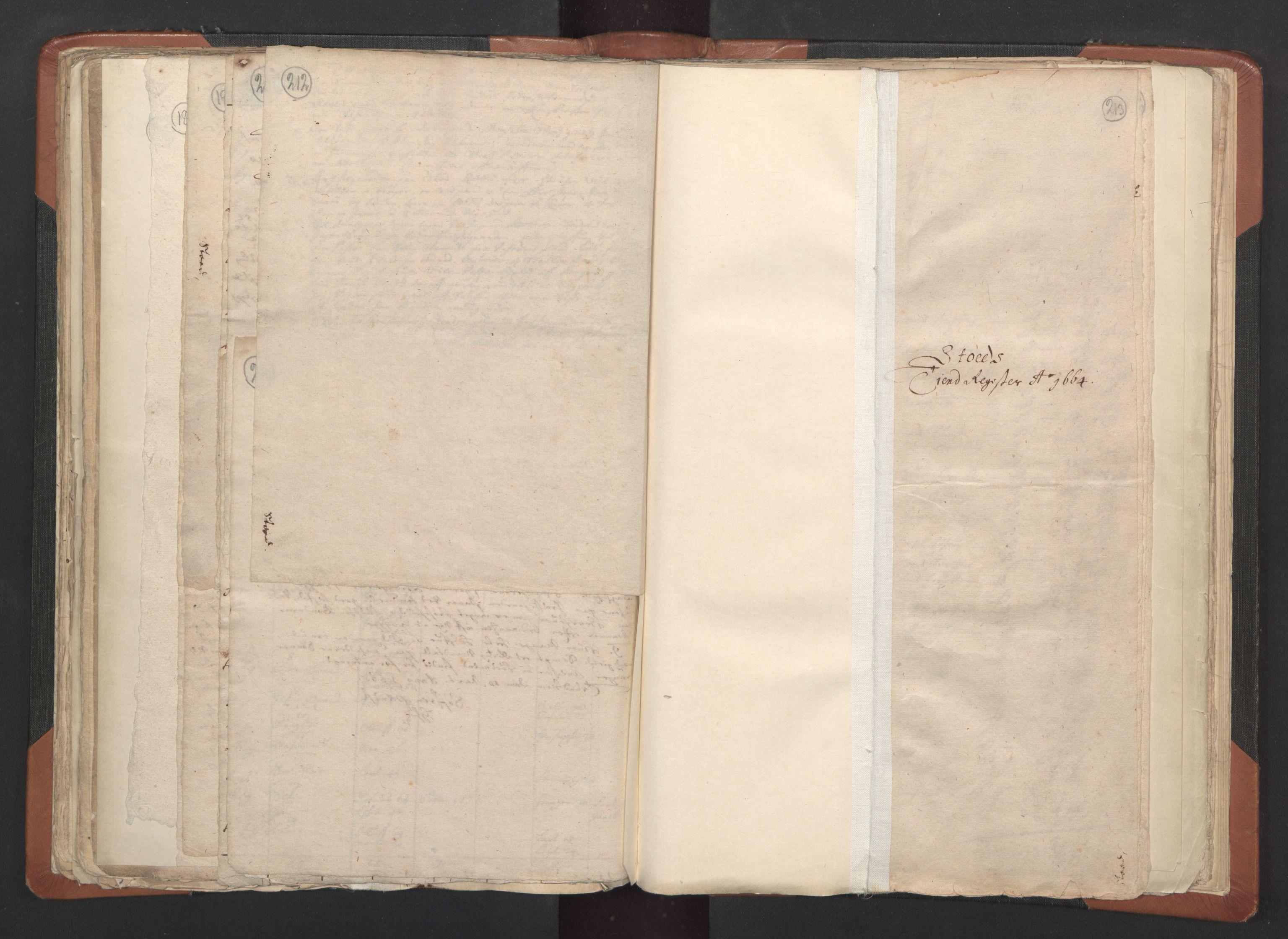RA, Sogneprestenes manntall 1664-1666, nr. 33: Innherad prosti, 1664-1666, s. 212-213