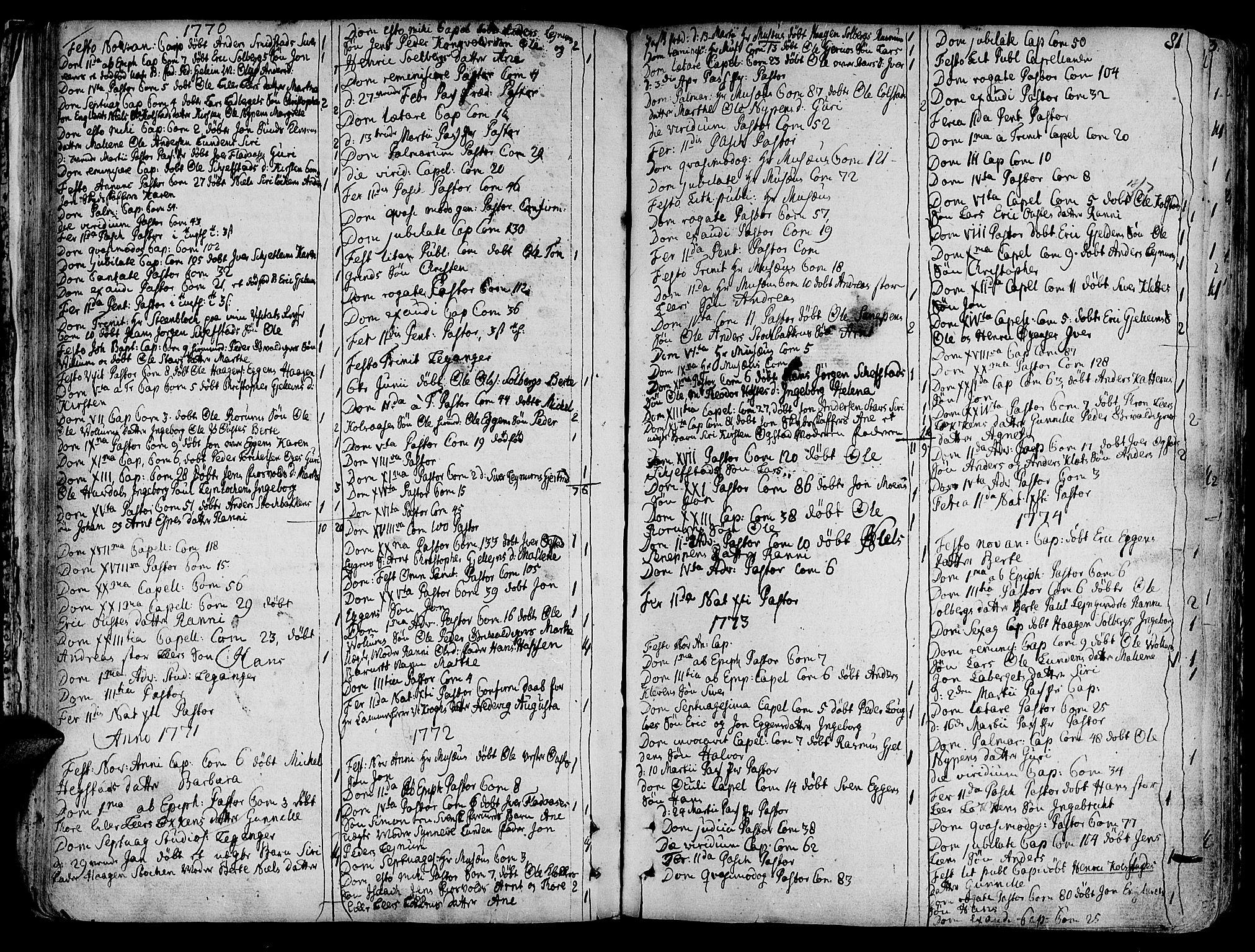 SAT, Ministerialprotokoller, klokkerbøker og fødselsregistre - Sør-Trøndelag, 691/L1063: Ministerialbok nr. 691A02 /3, 1768-1815, s. 81