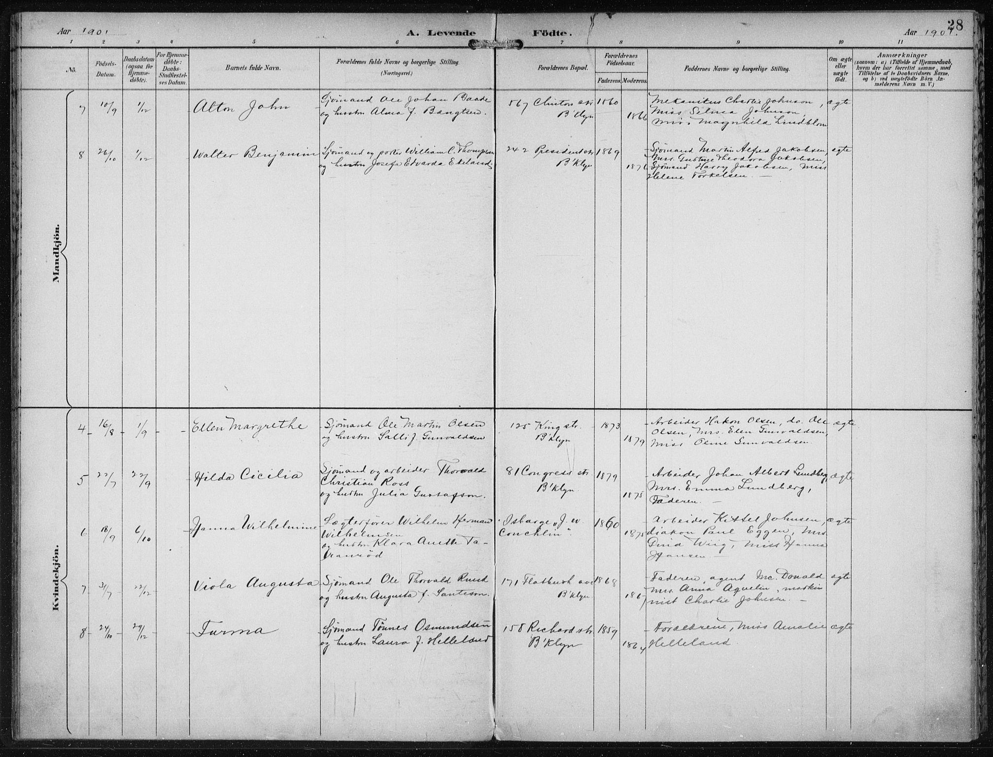 SAB, Privatarkiv 110 - Den norske sjømannsmisjon i utlandet/New York, H/Ha/L0004: Ministerialbok nr. A 4, 1893-1901, s. 28