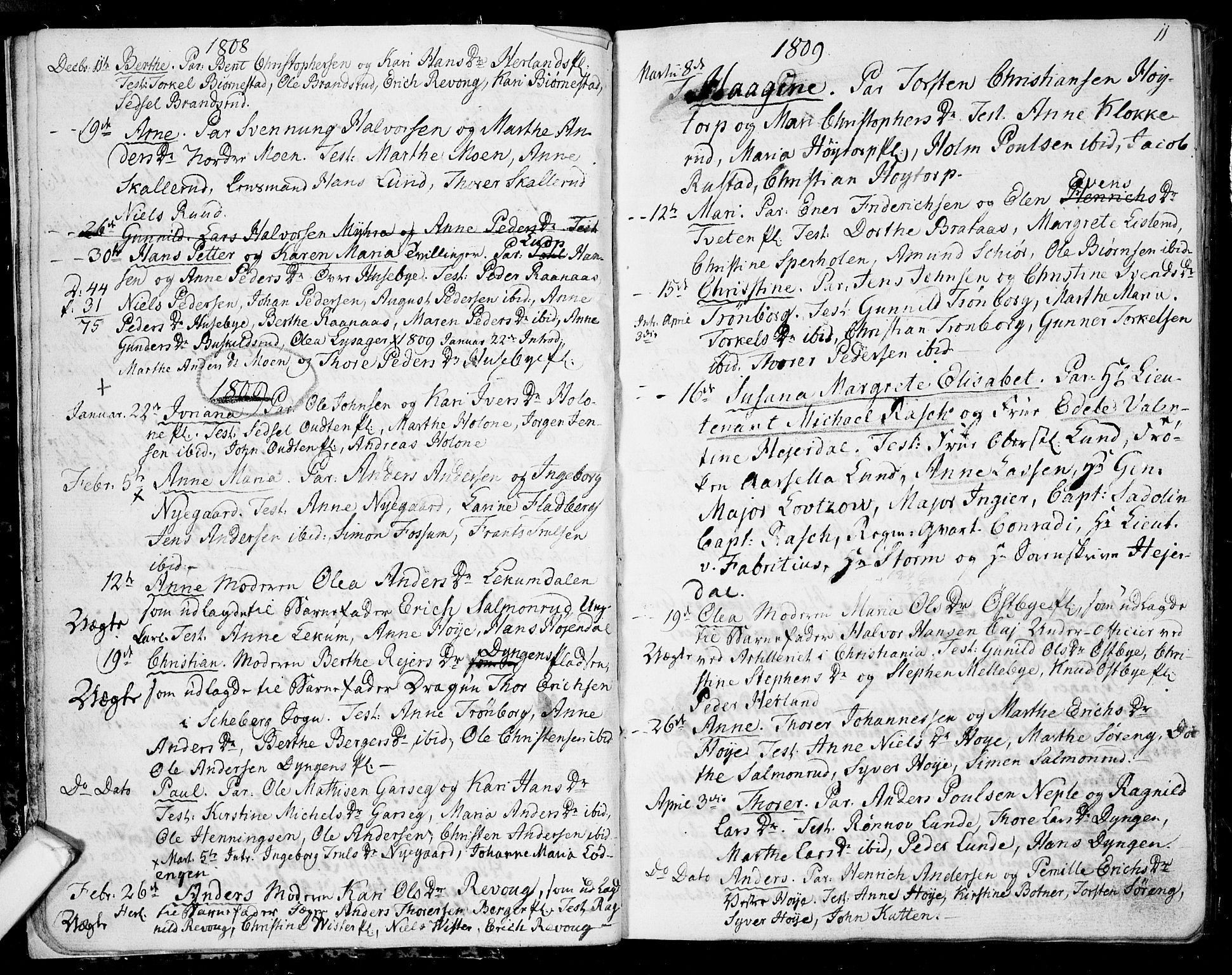 SAO, Eidsberg prestekontor Kirkebøker, F/Fa/L0006: Ministerialbok nr. I 6, 1807-1814, s. 11