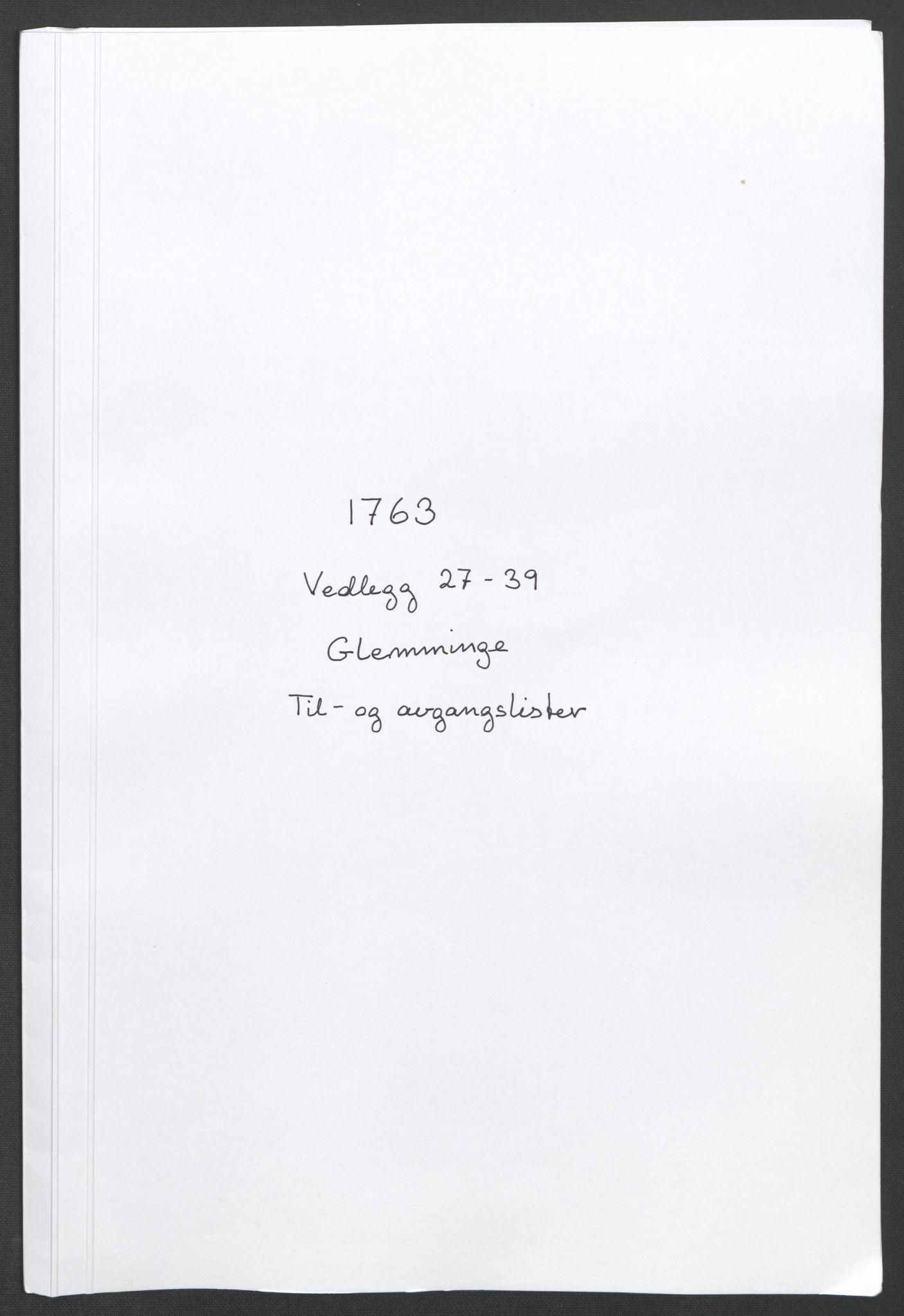 RA, Rentekammeret inntil 1814, Reviderte regnskaper, Fogderegnskap, R04/L0261: Ekstraskatten Moss, Onsøy, Tune, Veme og Åbygge, 1763, s. 89