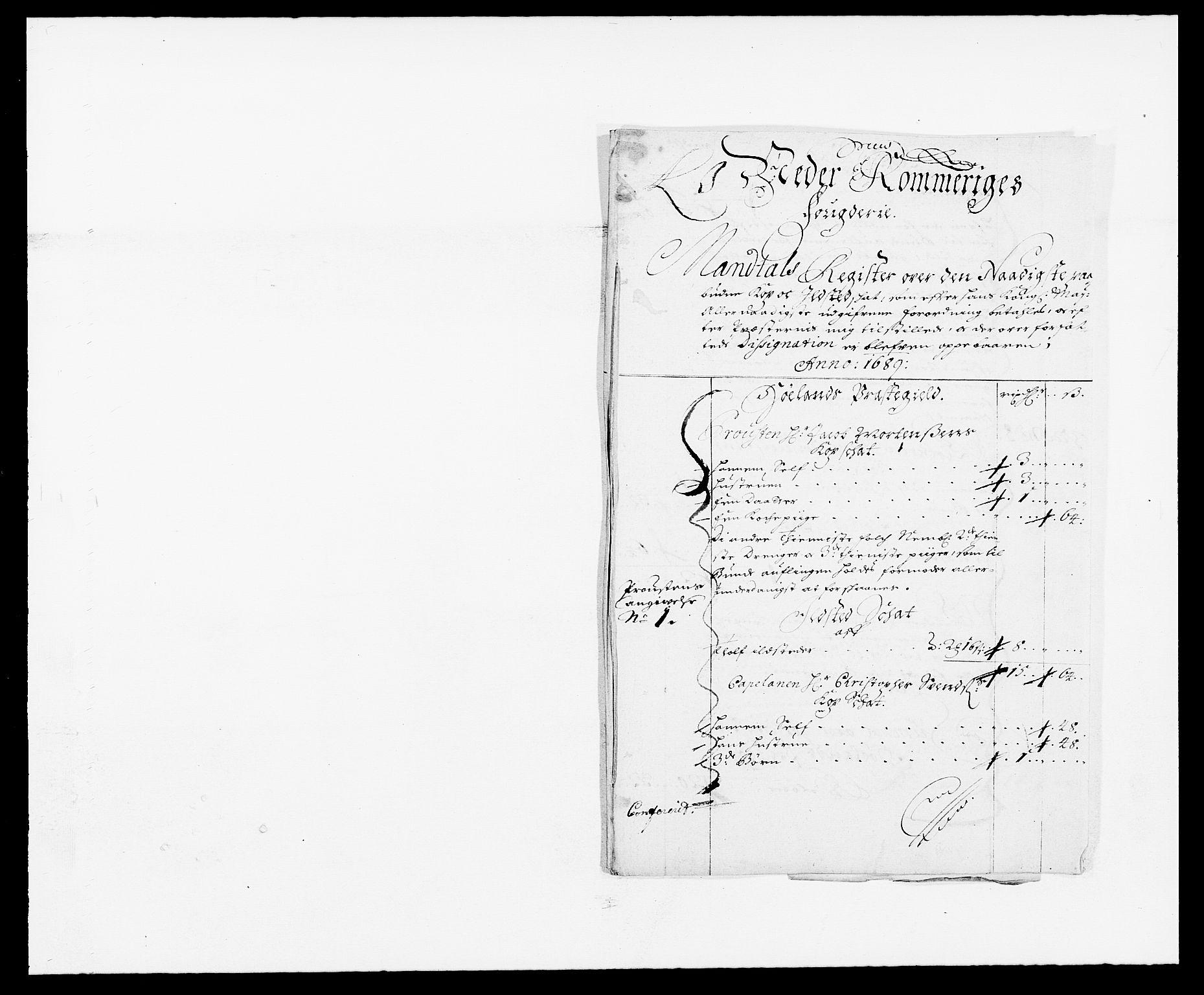 RA, Rentekammeret inntil 1814, Reviderte regnskaper, Fogderegnskap, R11/L0574: Fogderegnskap Nedre Romerike, 1689-1690, s. 158