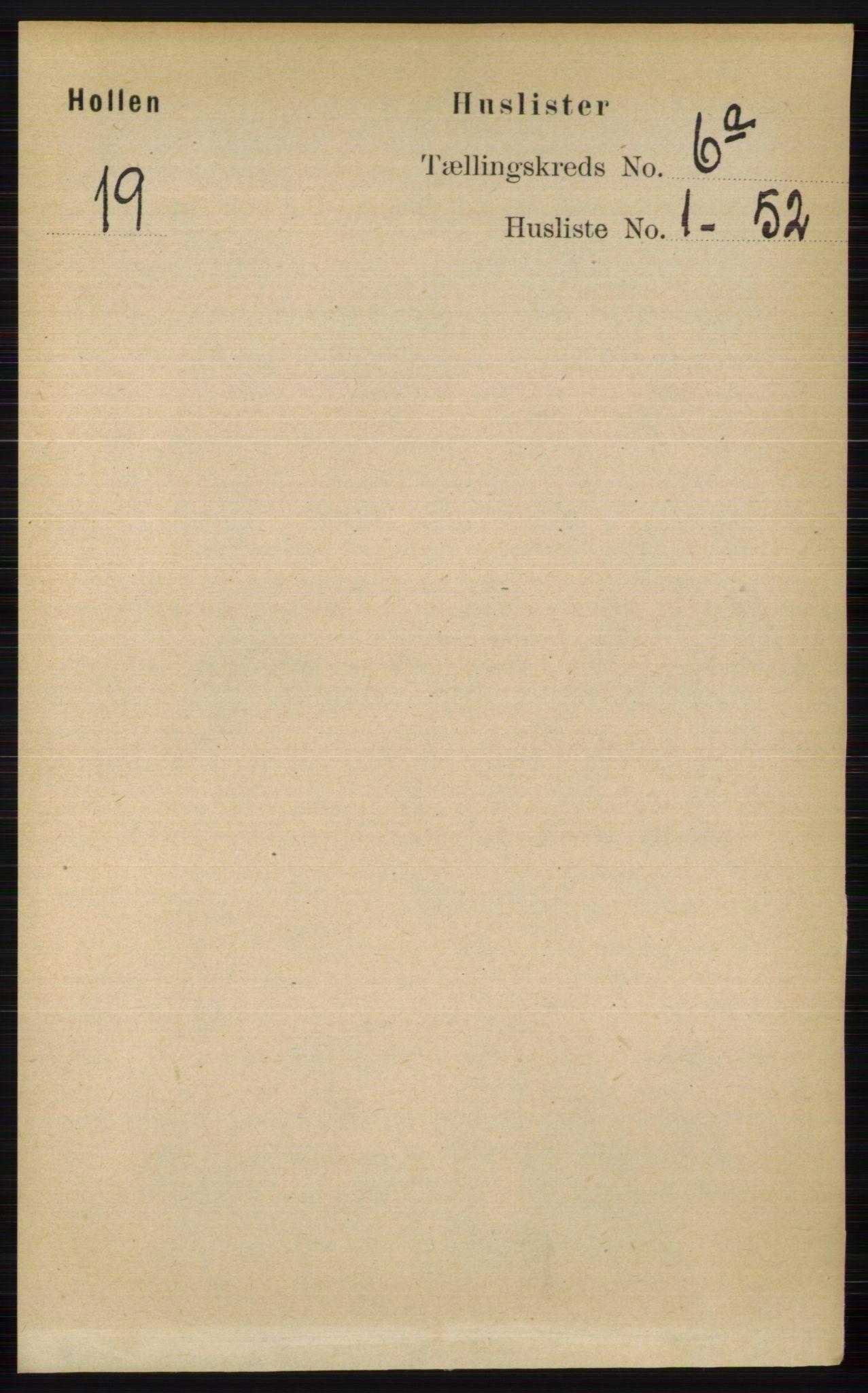RA, Folketelling 1891 for 0819 Holla herred, 1891, s. 2811