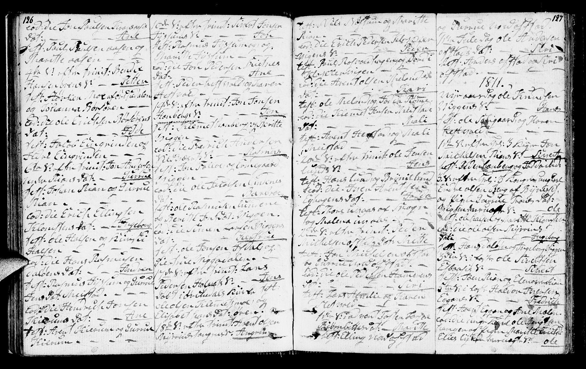 SAT, Ministerialprotokoller, klokkerbøker og fødselsregistre - Sør-Trøndelag, 665/L0769: Ministerialbok nr. 665A04, 1803-1816, s. 126-127
