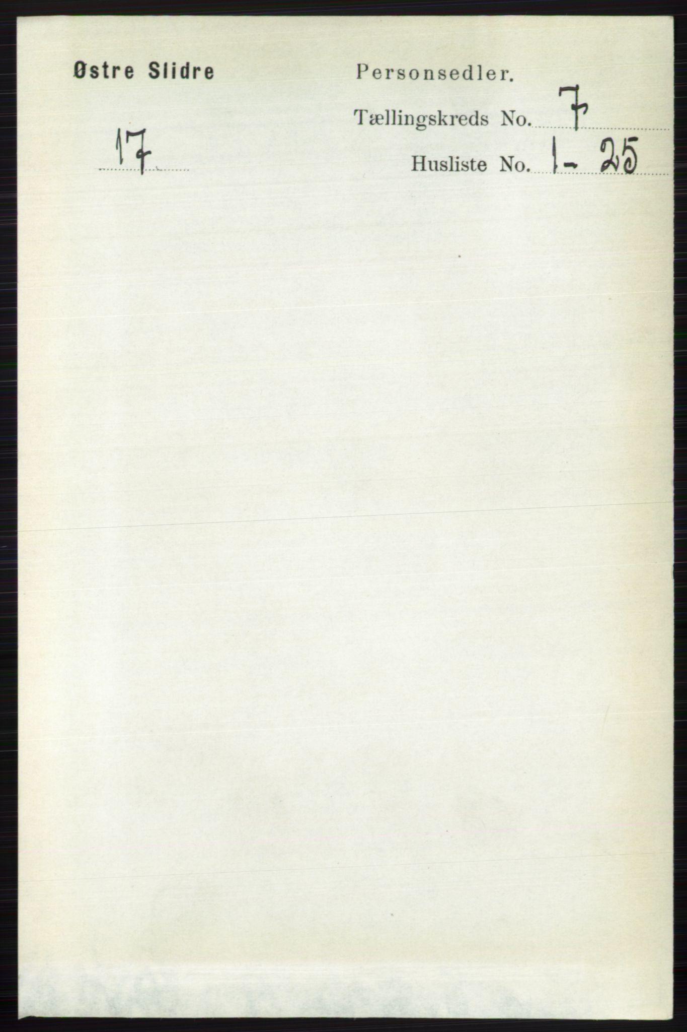 RA, Folketelling 1891 for 0544 Øystre Slidre herred, 1891, s. 2170