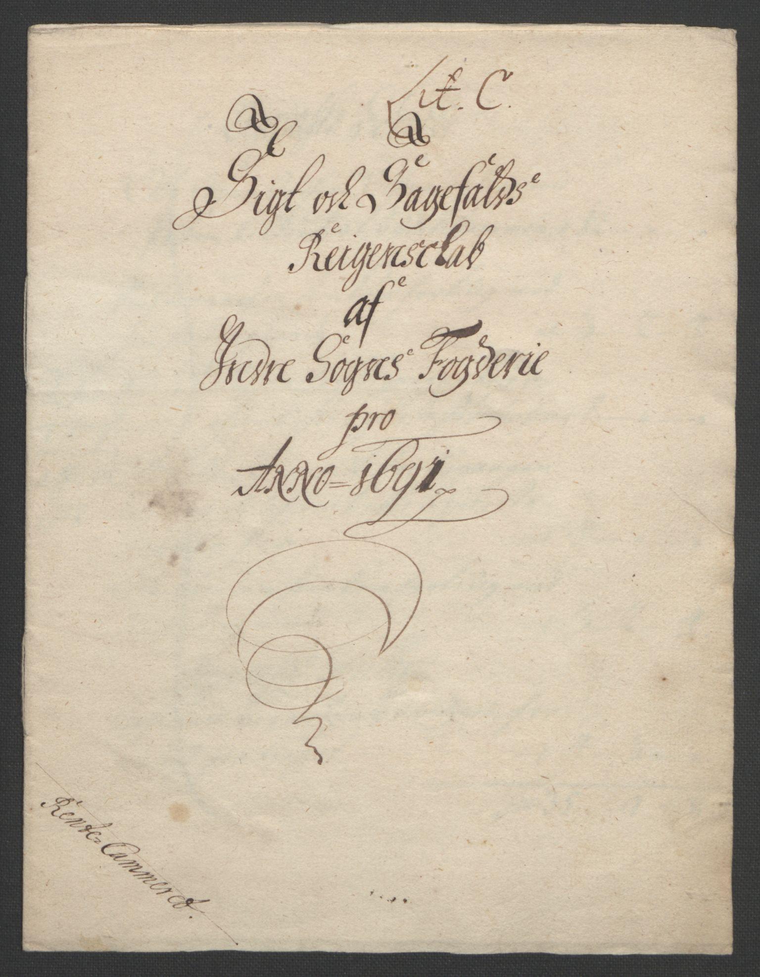 RA, Rentekammeret inntil 1814, Reviderte regnskaper, Fogderegnskap, R52/L3306: Fogderegnskap Sogn, 1691-1692, s. 33