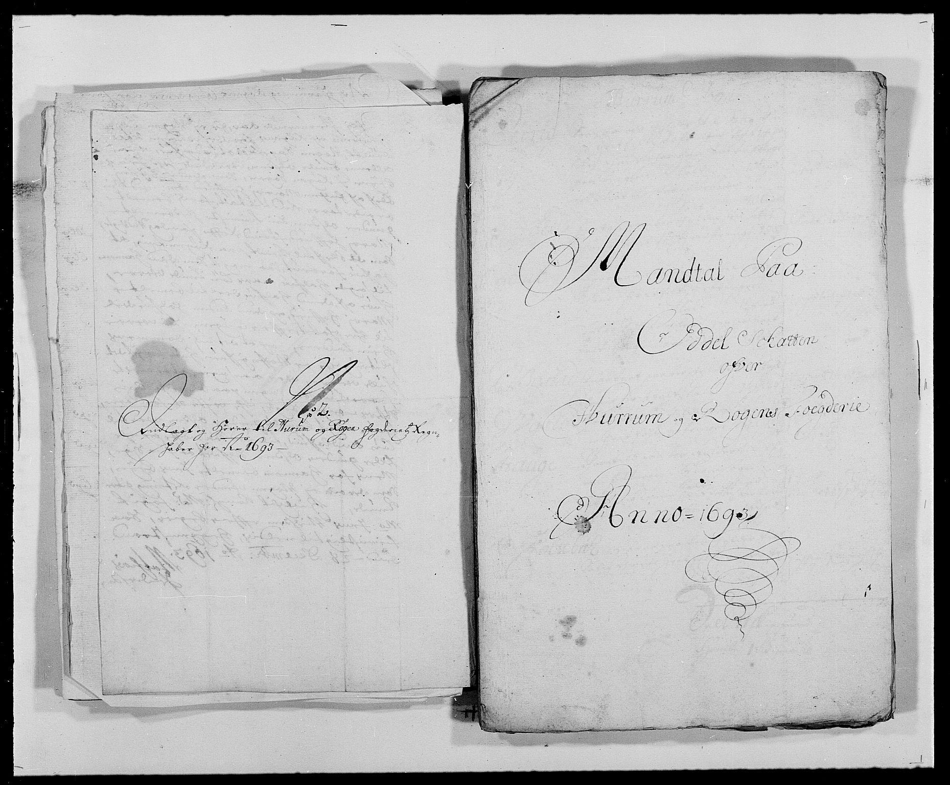 RA, Rentekammeret inntil 1814, Reviderte regnskaper, Fogderegnskap, R29/L1693: Fogderegnskap Hurum og Røyken, 1688-1693, s. 486