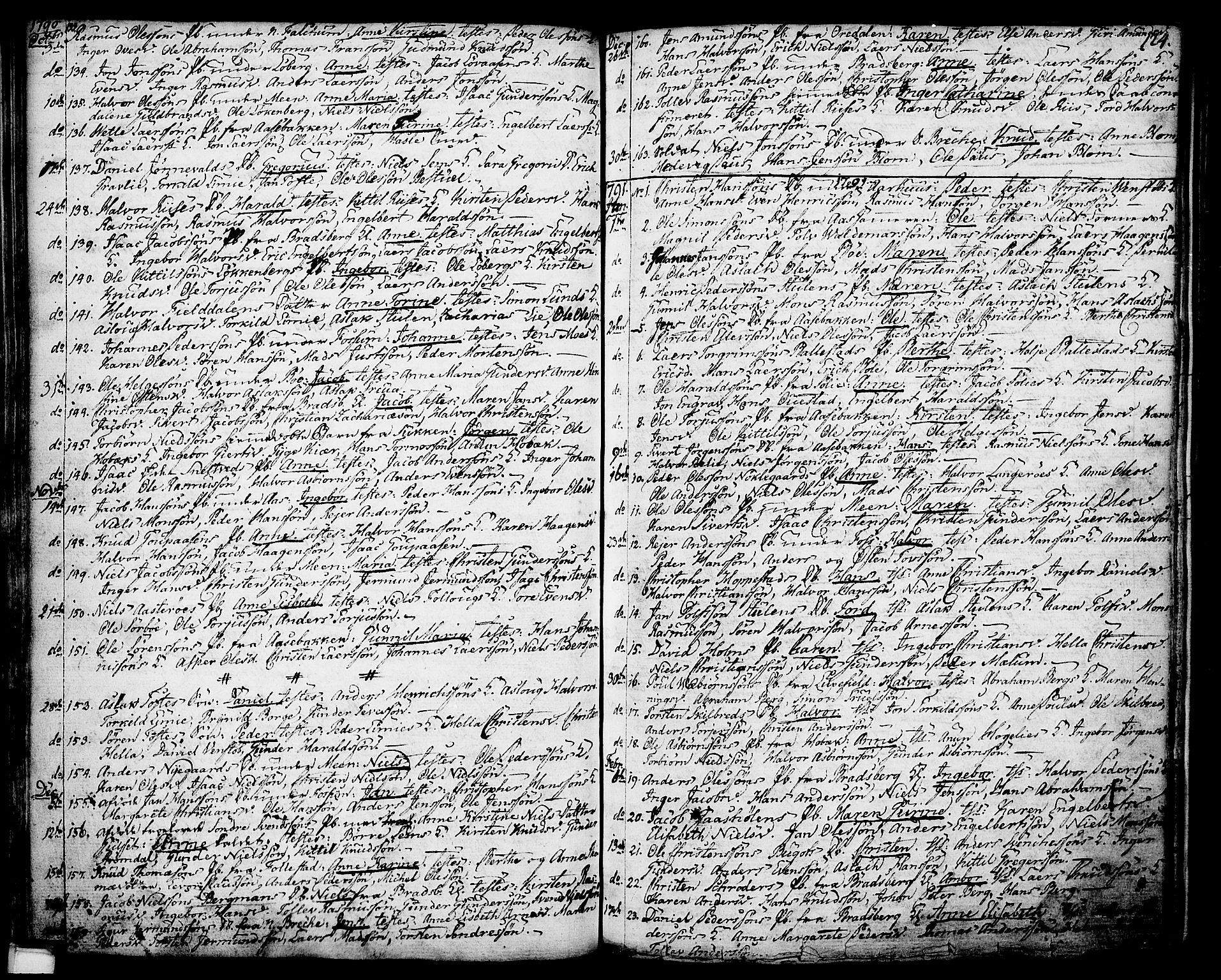 SAKO, Gjerpen kirkebøker, F/Fa/L0002: Ministerialbok nr. 2, 1747-1795, s. 124