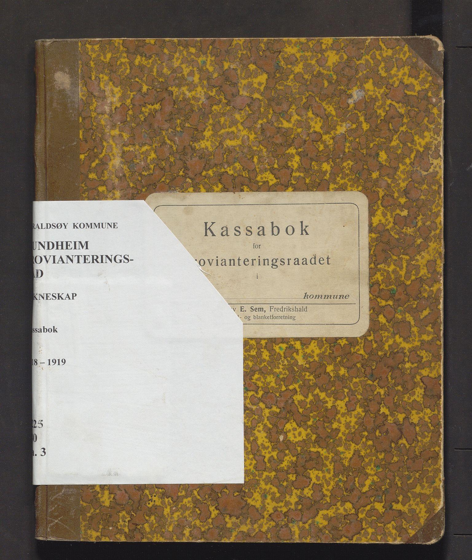 IKAH, Varaldsøy kommune. Mundheim provianteringsråd, R/Ra/L0003: Kontobok  for Mundheim provianteringsråd, 1918-1919