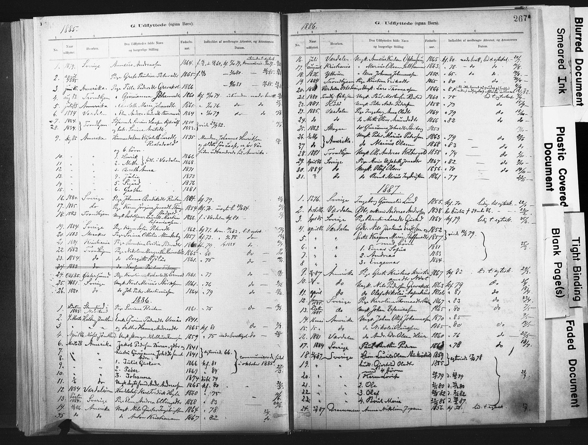 SAT, Ministerialprotokoller, klokkerbøker og fødselsregistre - Nord-Trøndelag, 721/L0207: Ministerialbok nr. 721A02, 1880-1911, s. 267