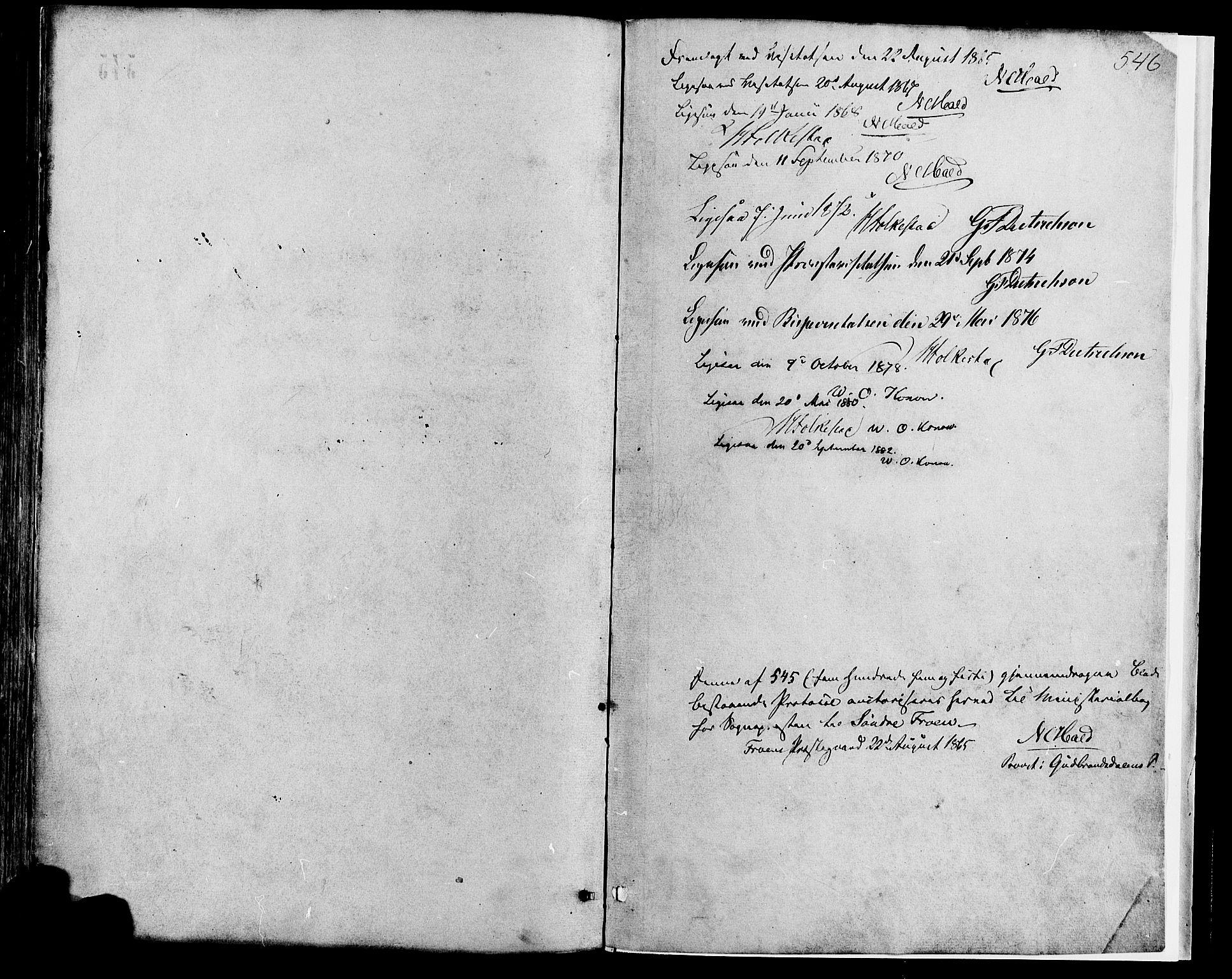 SAH, Sør-Fron prestekontor, H/Ha/Haa/L0002: Ministerialbok nr. 2, 1864-1880, s. 542
