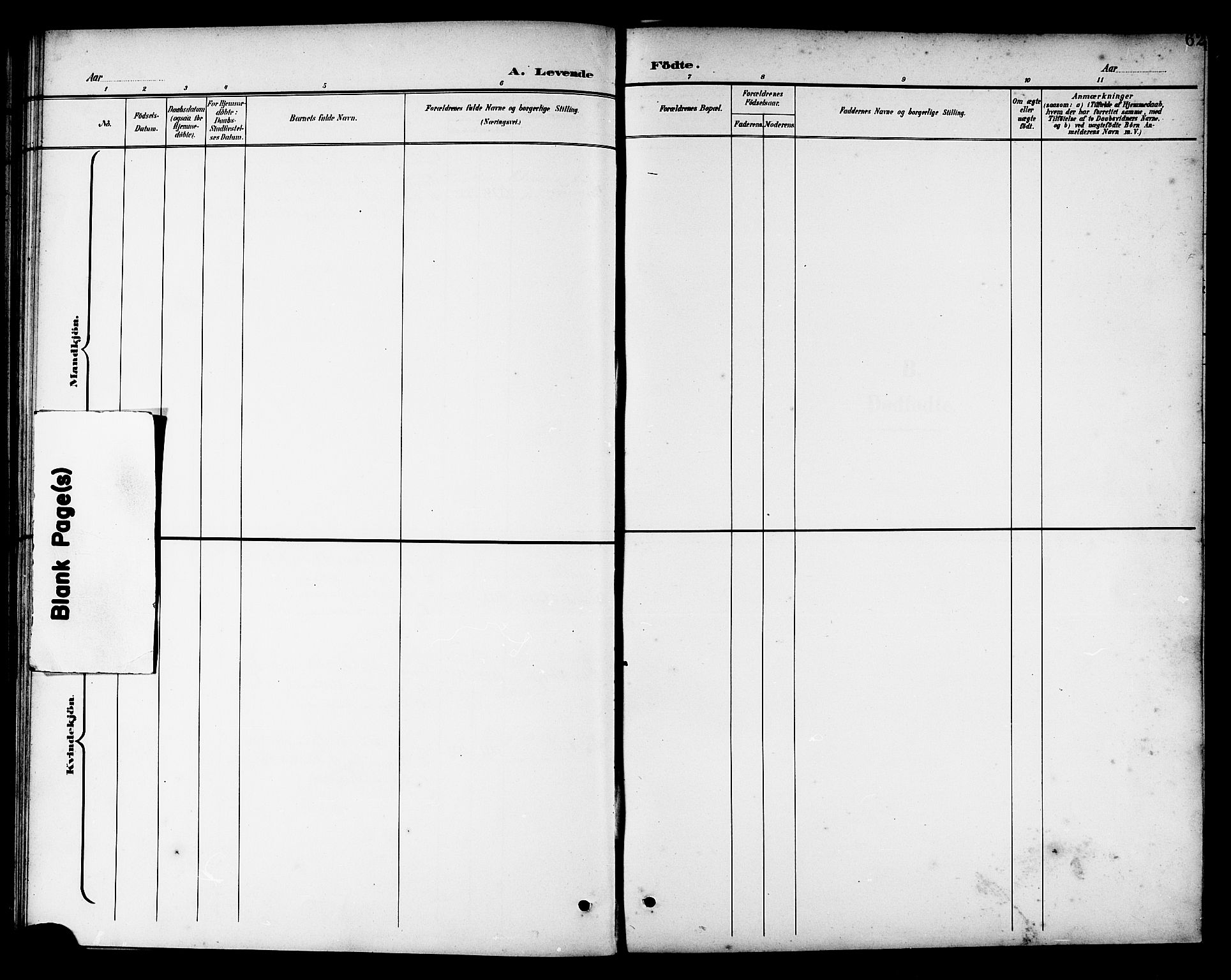 SAT, Ministerialprotokoller, klokkerbøker og fødselsregistre - Nord-Trøndelag, 741/L0401: Klokkerbok nr. 741C02, 1899-1911, s. 62
