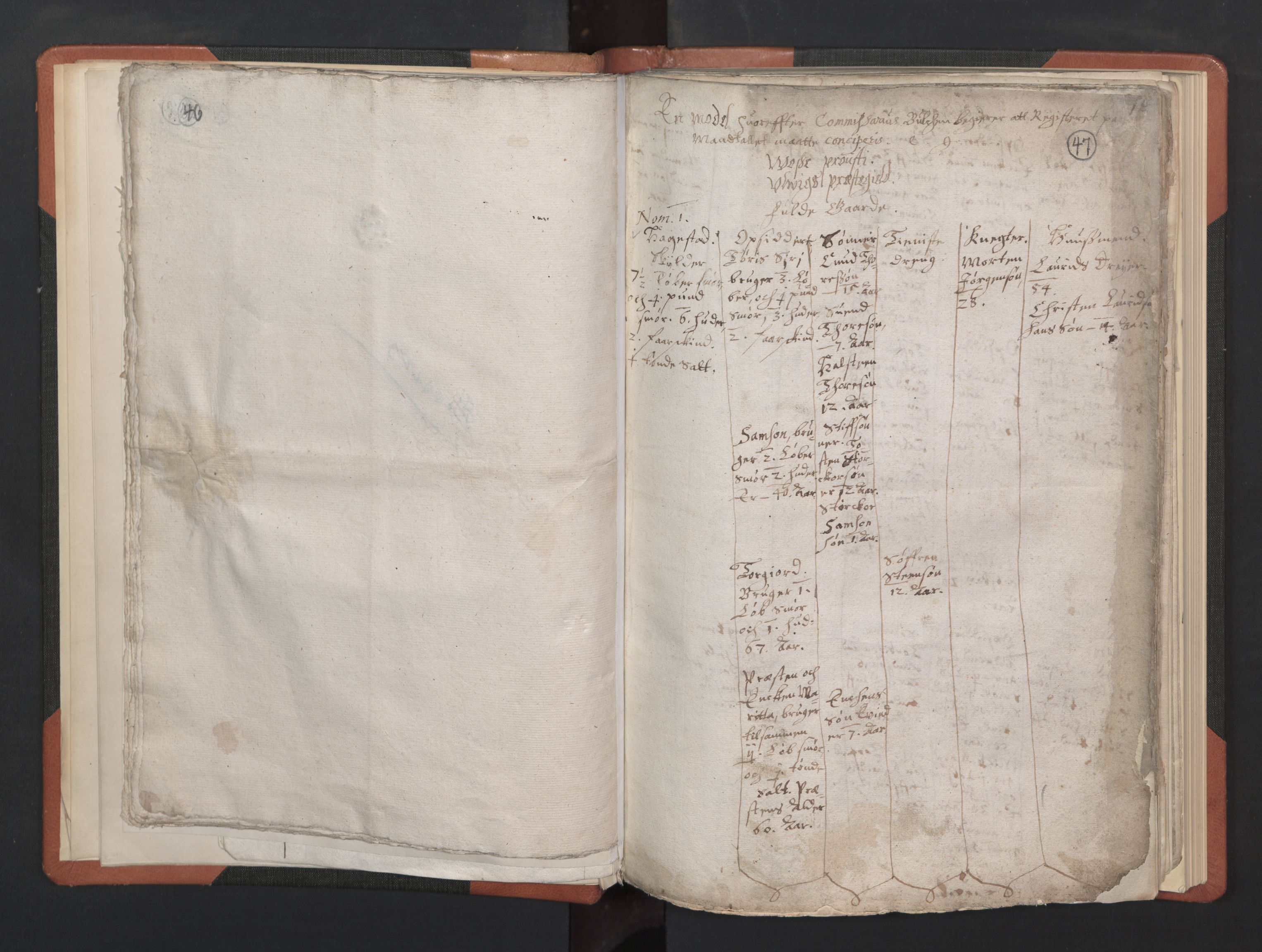 RA, Sogneprestenes manntall 1664-1666, nr. 21: Hardanger prosti, 1664-1666, s. 46-47