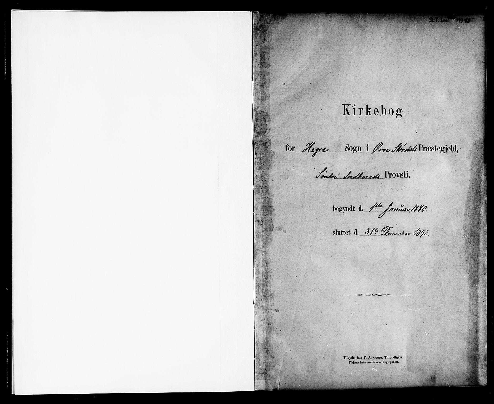 SAT, Ministerialprotokoller, klokkerbøker og fødselsregistre - Nord-Trøndelag, 703/L0030: Ministerialbok nr. 703A03, 1880-1892