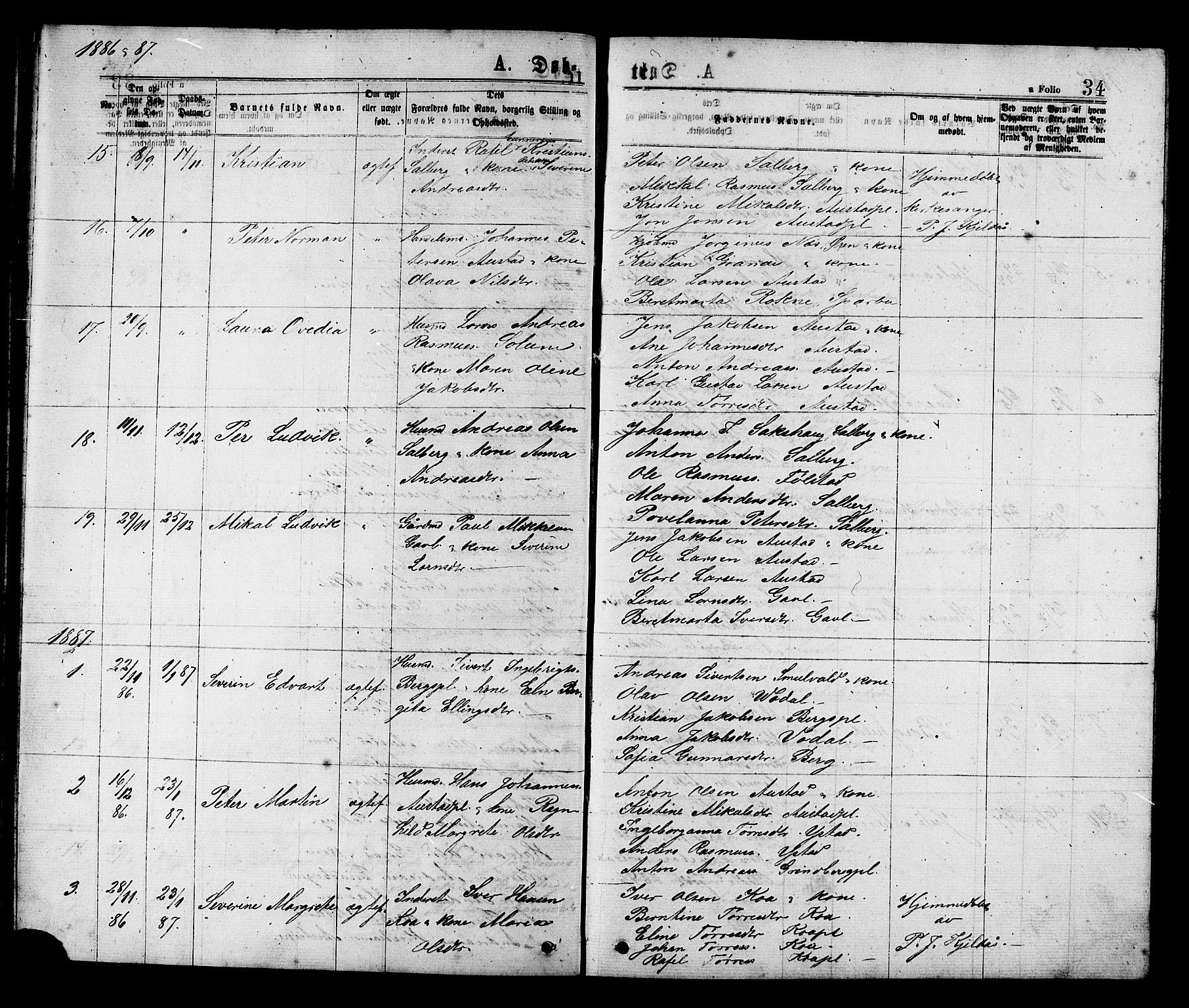 SAT, Ministerialprotokoller, klokkerbøker og fødselsregistre - Nord-Trøndelag, 731/L0311: Klokkerbok nr. 731C02, 1875-1911, s. 34