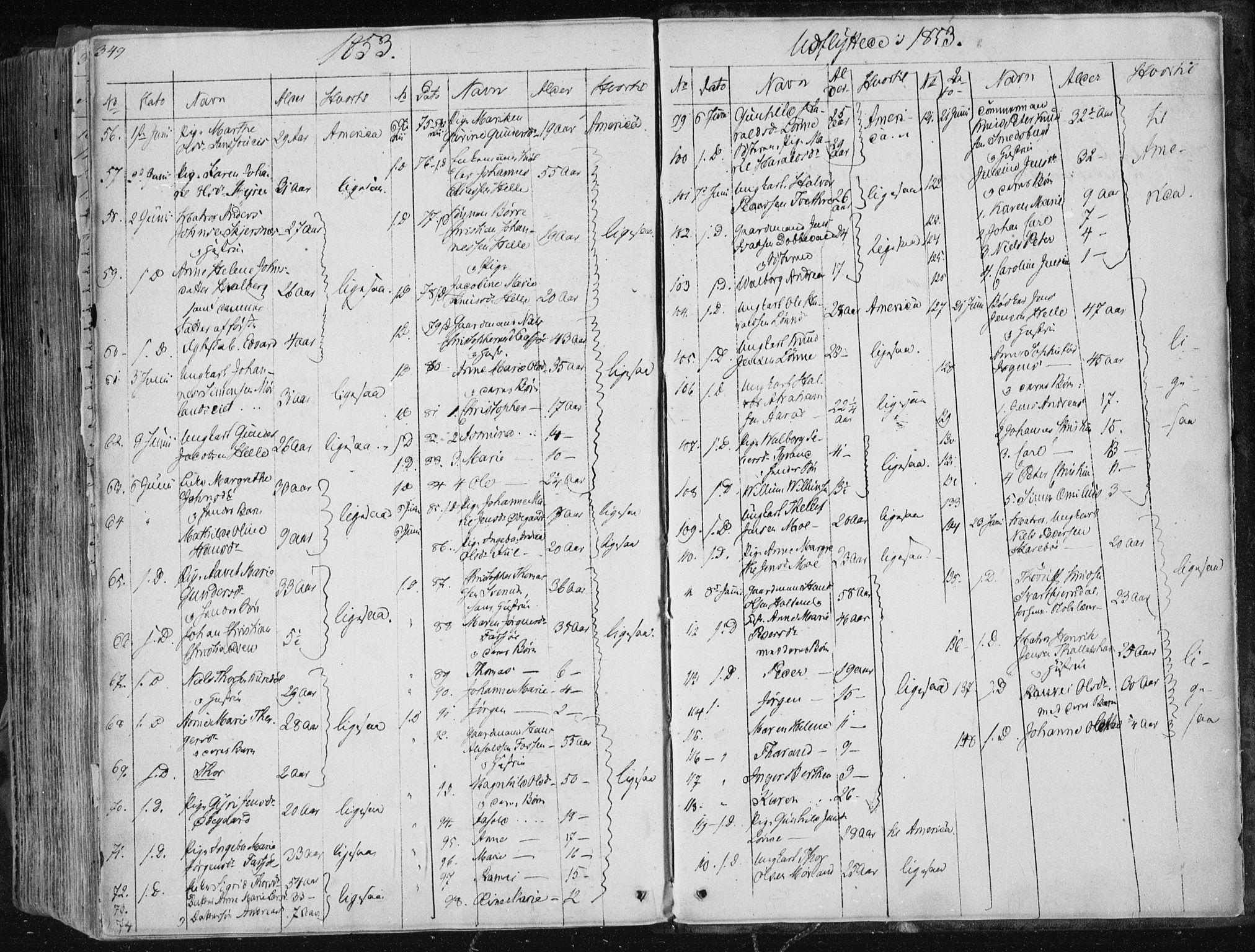 SAKO, Sannidal kirkebøker, F/Fa/L0007: Ministerialbok nr. 7, 1831-1854, s. 349