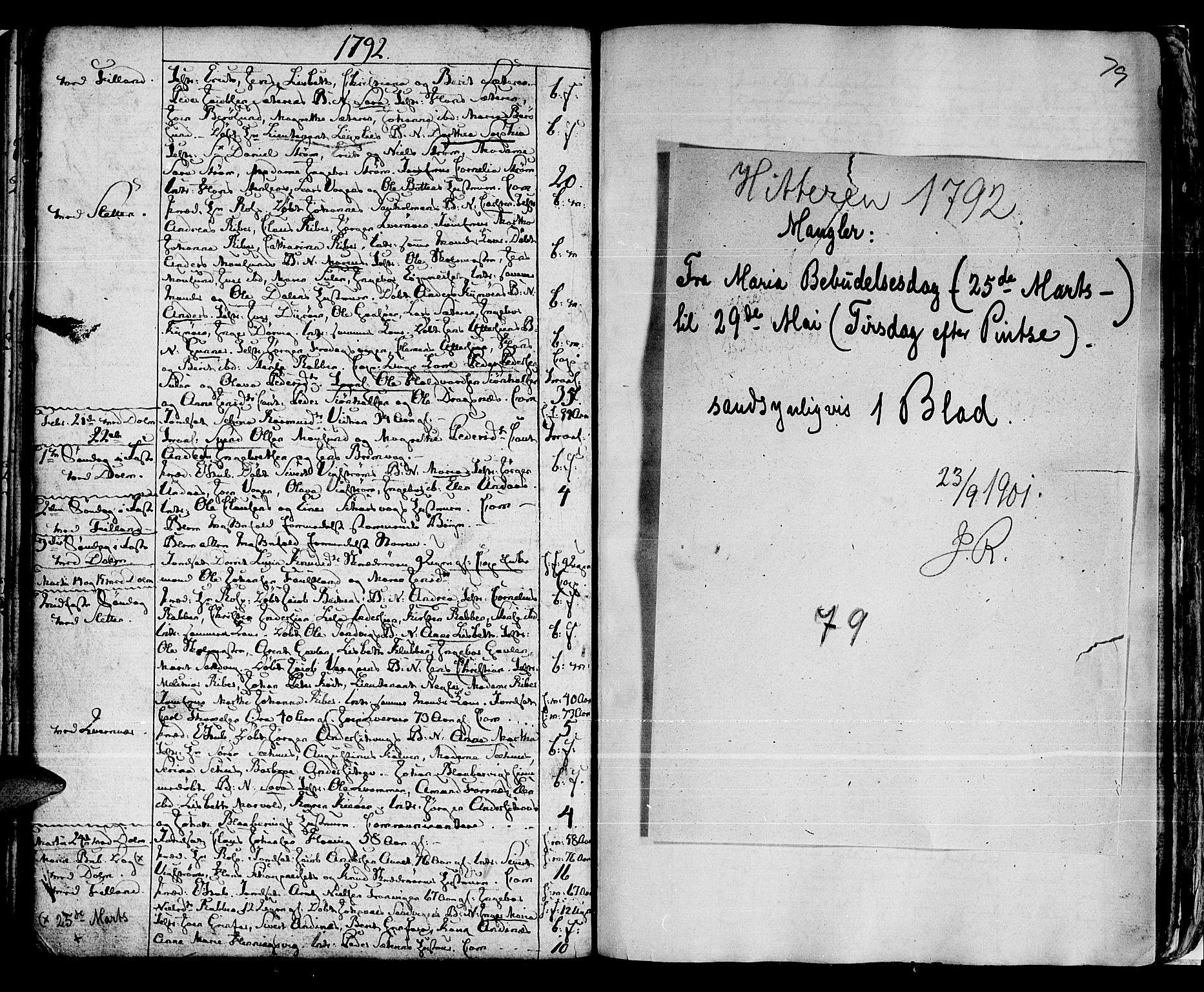 SAT, Ministerialprotokoller, klokkerbøker og fødselsregistre - Sør-Trøndelag, 634/L0526: Ministerialbok nr. 634A02, 1775-1818, s. 79
