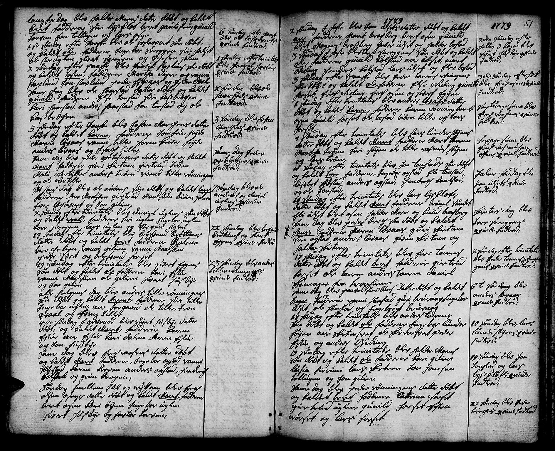 SAT, Ministerialprotokoller, klokkerbøker og fødselsregistre - Sør-Trøndelag, 618/L0437: Ministerialbok nr. 618A02, 1749-1782, s. 51