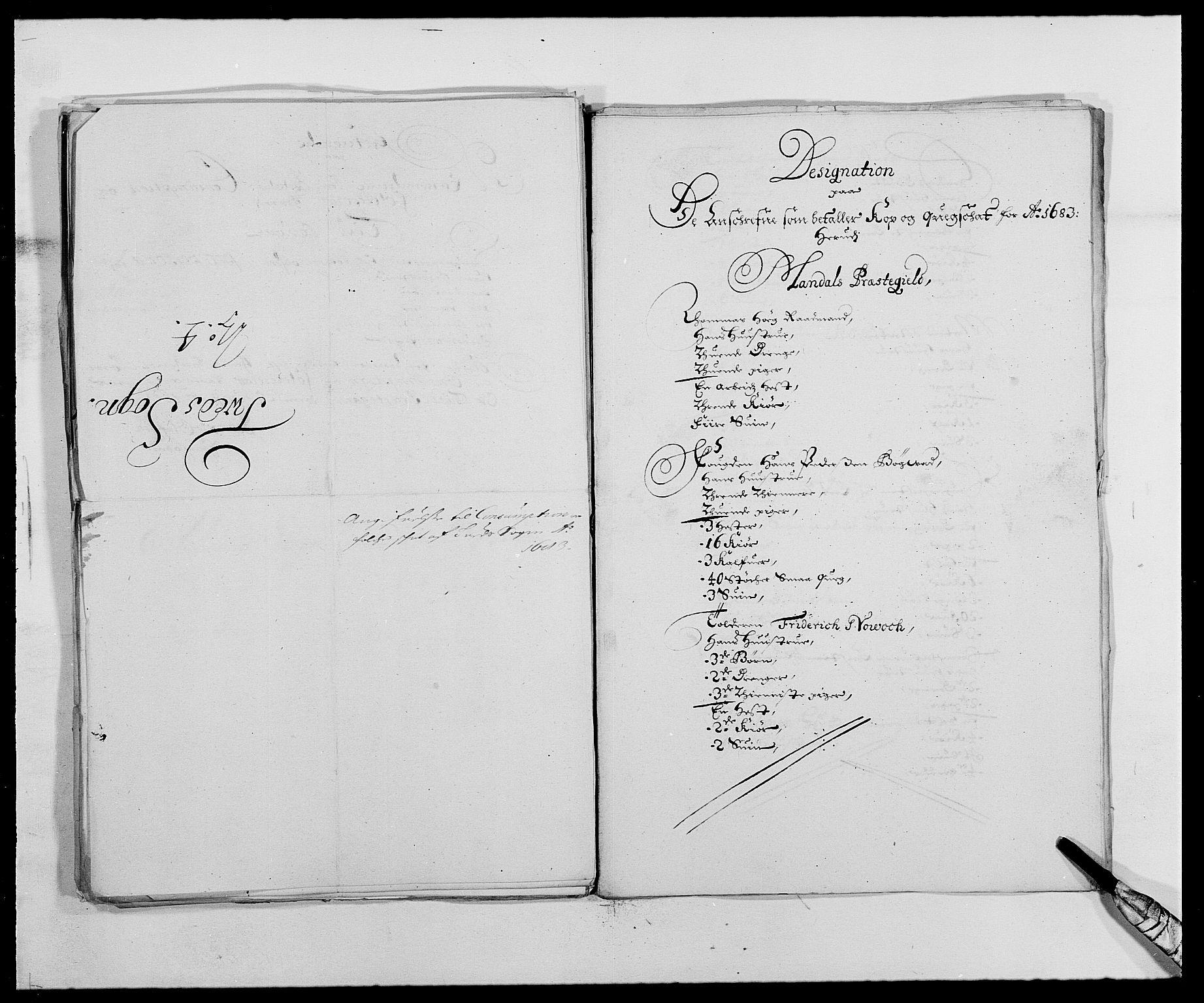 RA, Rentekammeret inntil 1814, Reviderte regnskaper, Fogderegnskap, R42/L2541: Mandal fogderi, 1681-1684, s. 204