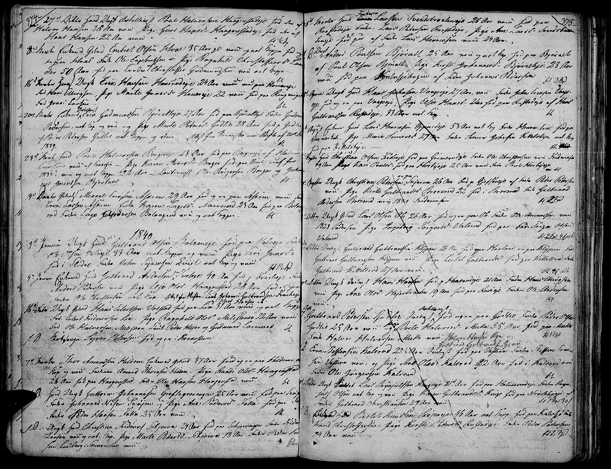 SAH, Jevnaker prestekontor, Ministerialbok nr. 4, 1800-1861, s. 374-375