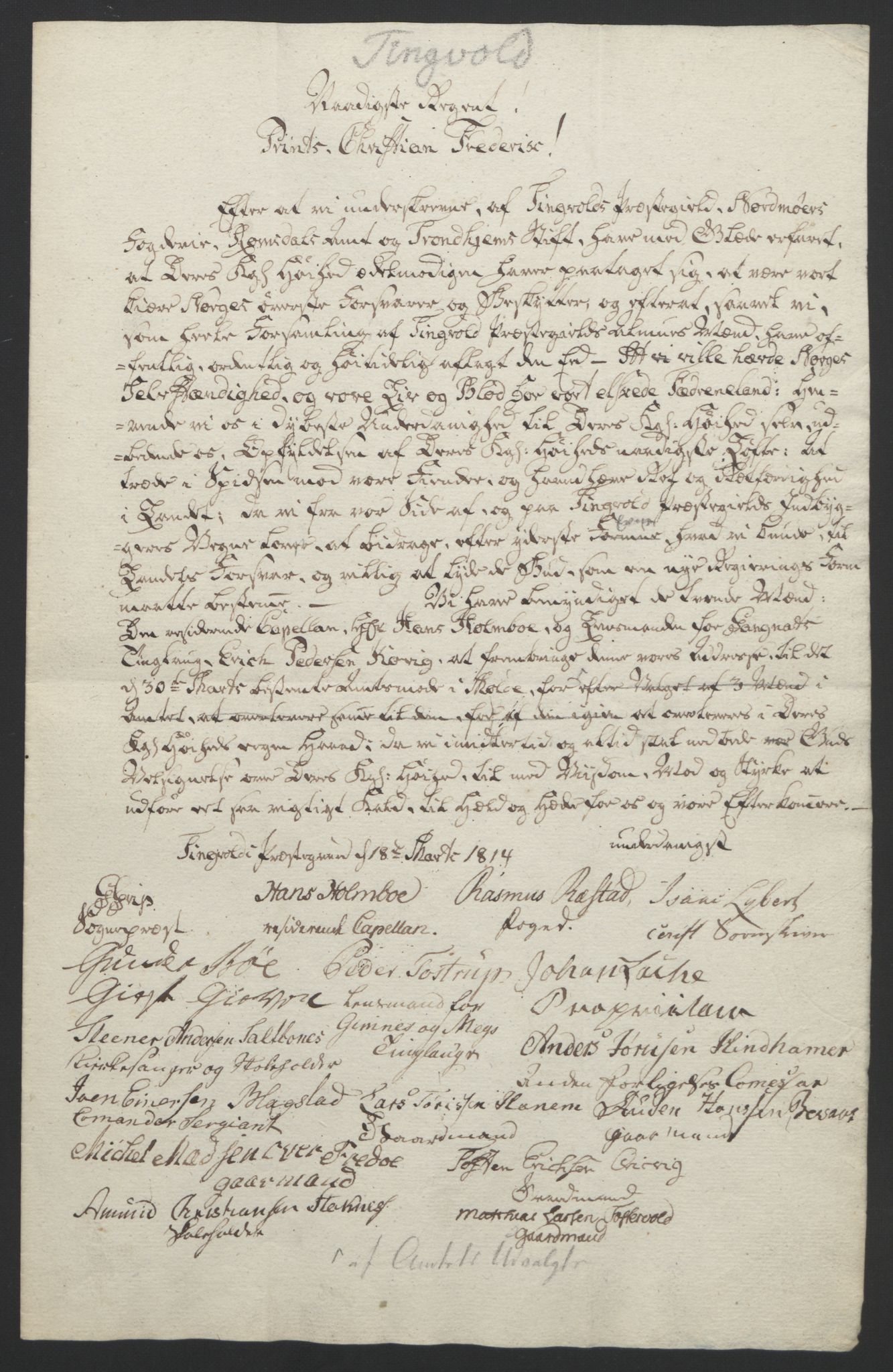 RA, Statsrådssekretariatet, D/Db/L0008: Fullmakter for Eidsvollsrepresentantene i 1814. , 1814, s. 407
