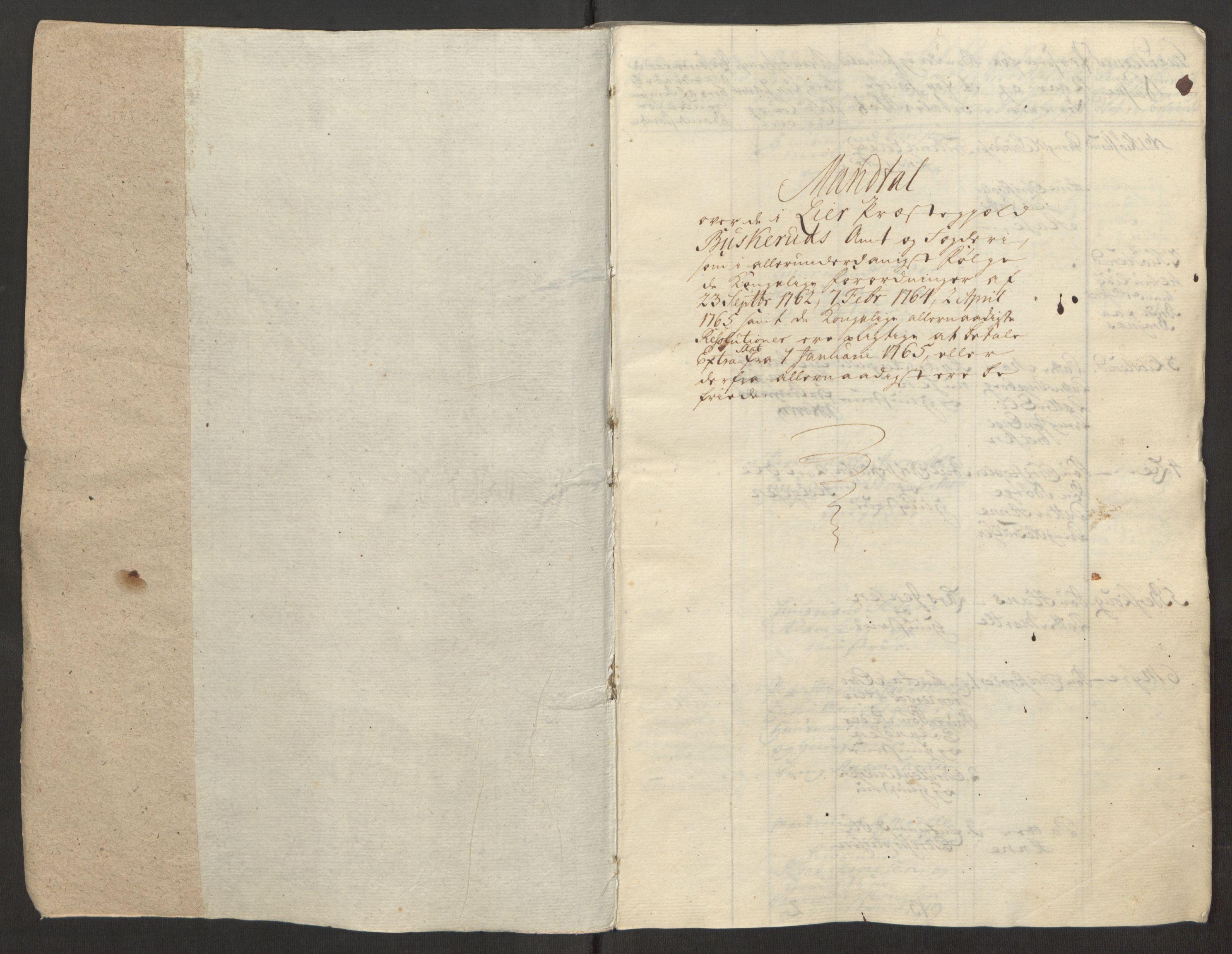 RA, Rentekammeret inntil 1814, Reviderte regnskaper, Fogderegnskap, R31/L1834: Ekstraskatten Hurum, Røyken, Eiker, Lier og Buskerud, 1765, s. 16