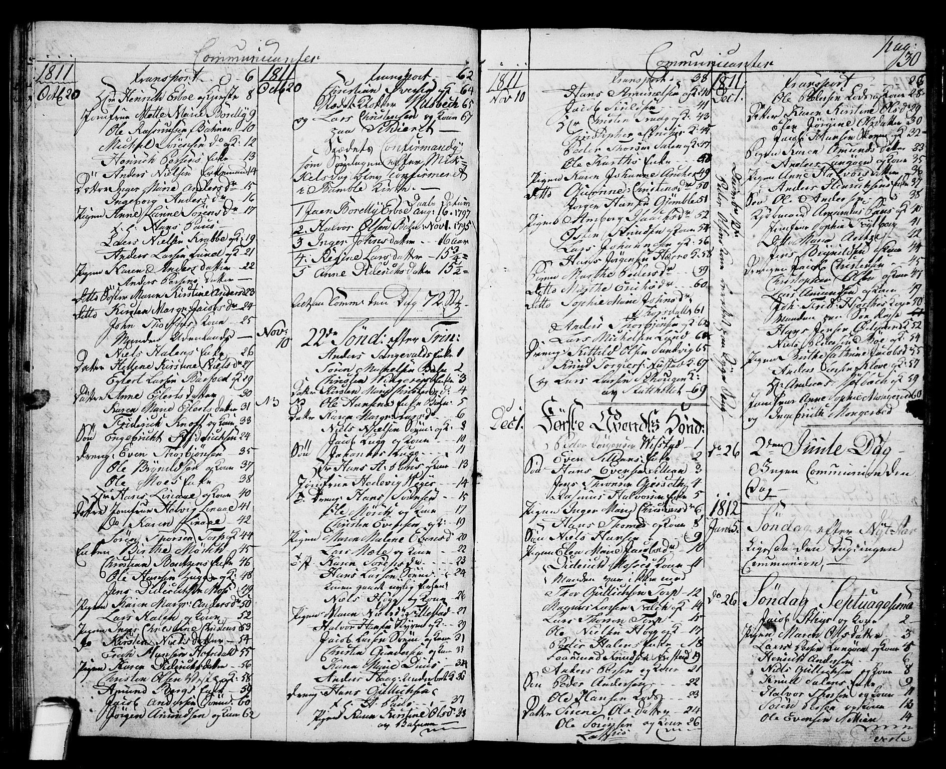 SAKO, Langesund kirkebøker, G/Ga/L0002: Klokkerbok nr. 2, 1801-1815, s. 30