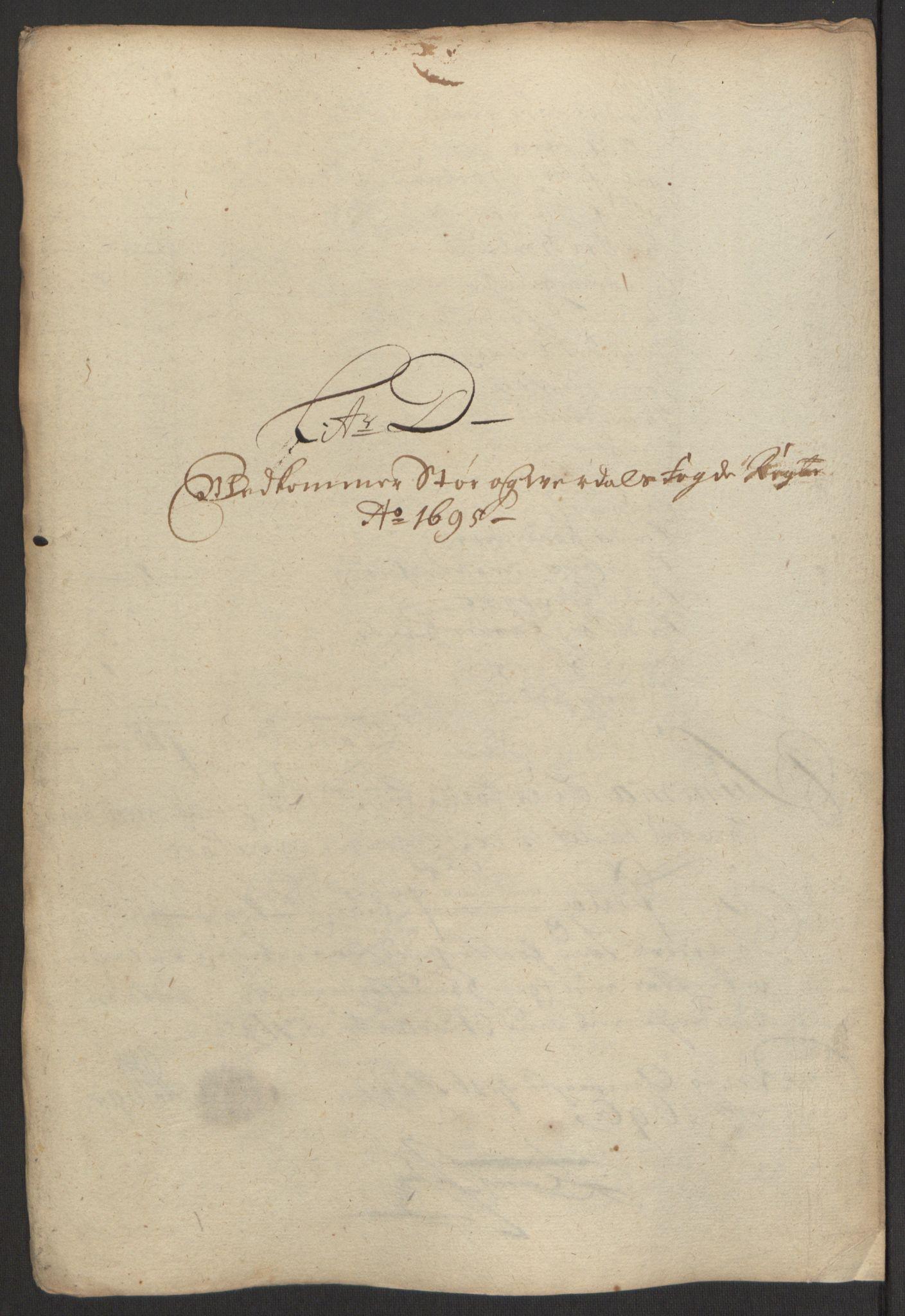 RA, Rentekammeret inntil 1814, Reviderte regnskaper, Fogderegnskap, R62/L4187: Fogderegnskap Stjørdal og Verdal, 1695, s. 65