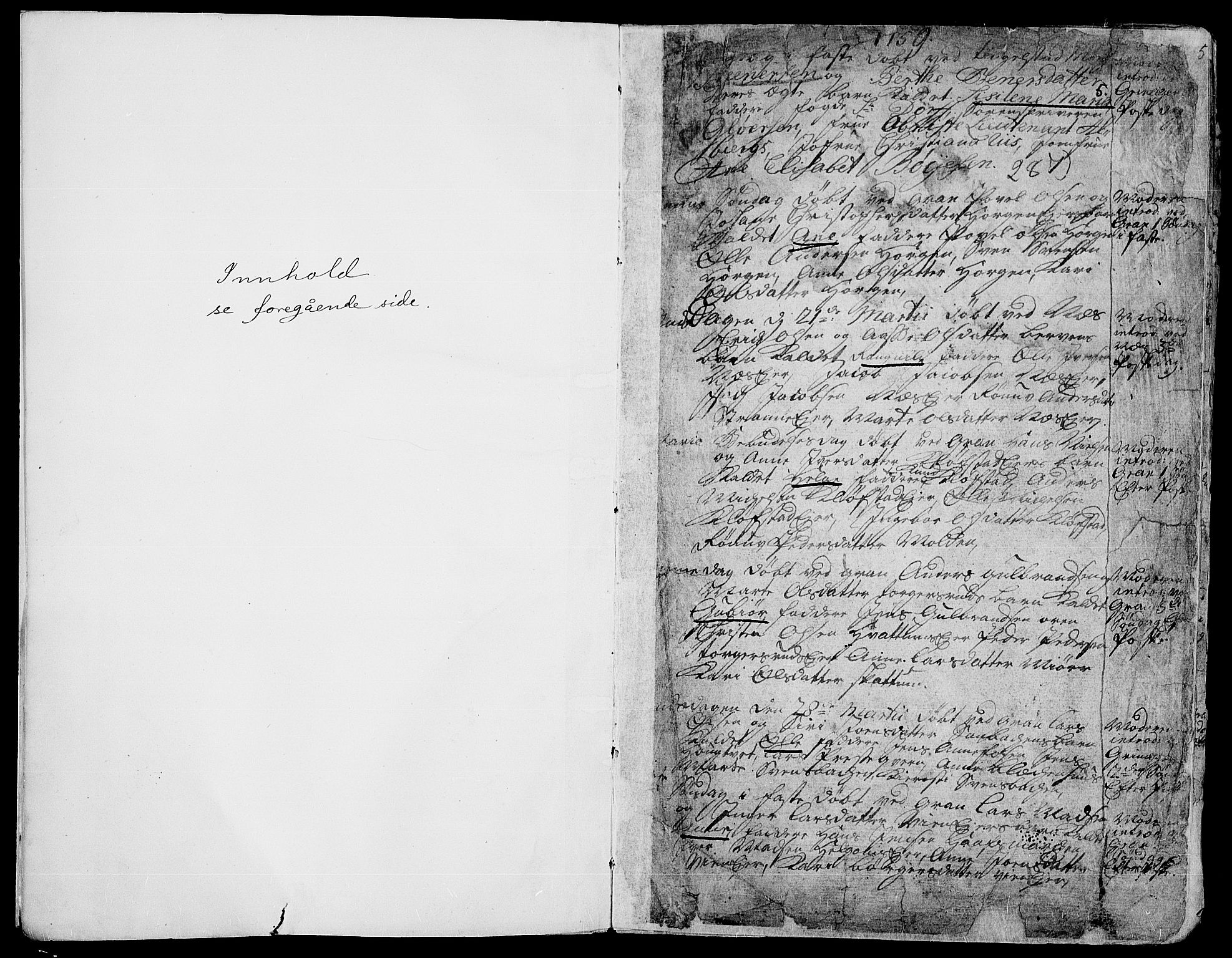 SAH, Gran prestekontor, Ministerialbok nr. 4, 1759-1775, s. 5