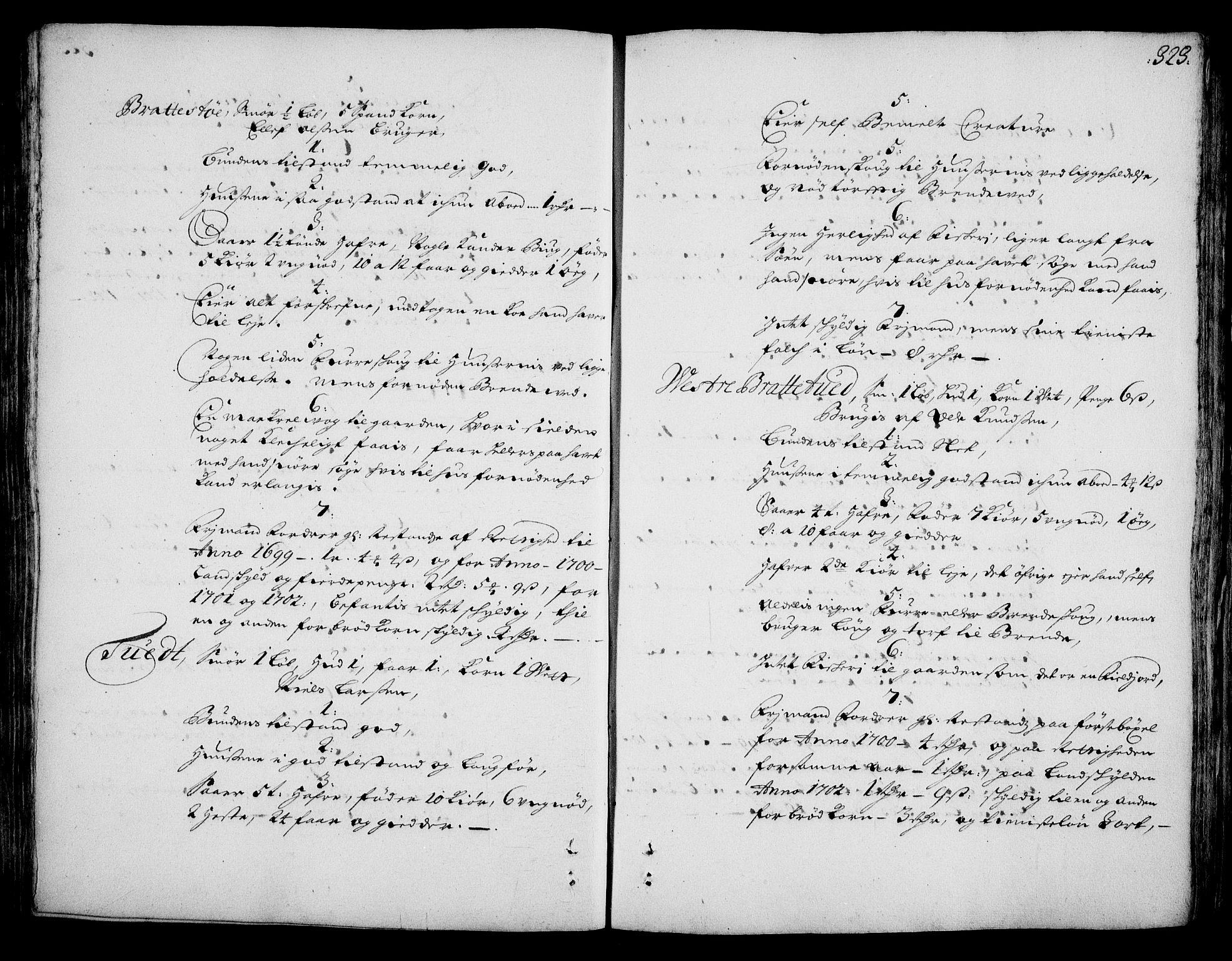 RA, Rentekammeret inntil 1814, Realistisk ordnet avdeling, On/L0002: [Jj 3]: Besiktigelsesforretninger over Halsnøy klosters gods, 1659-1703, s. 322b-323a