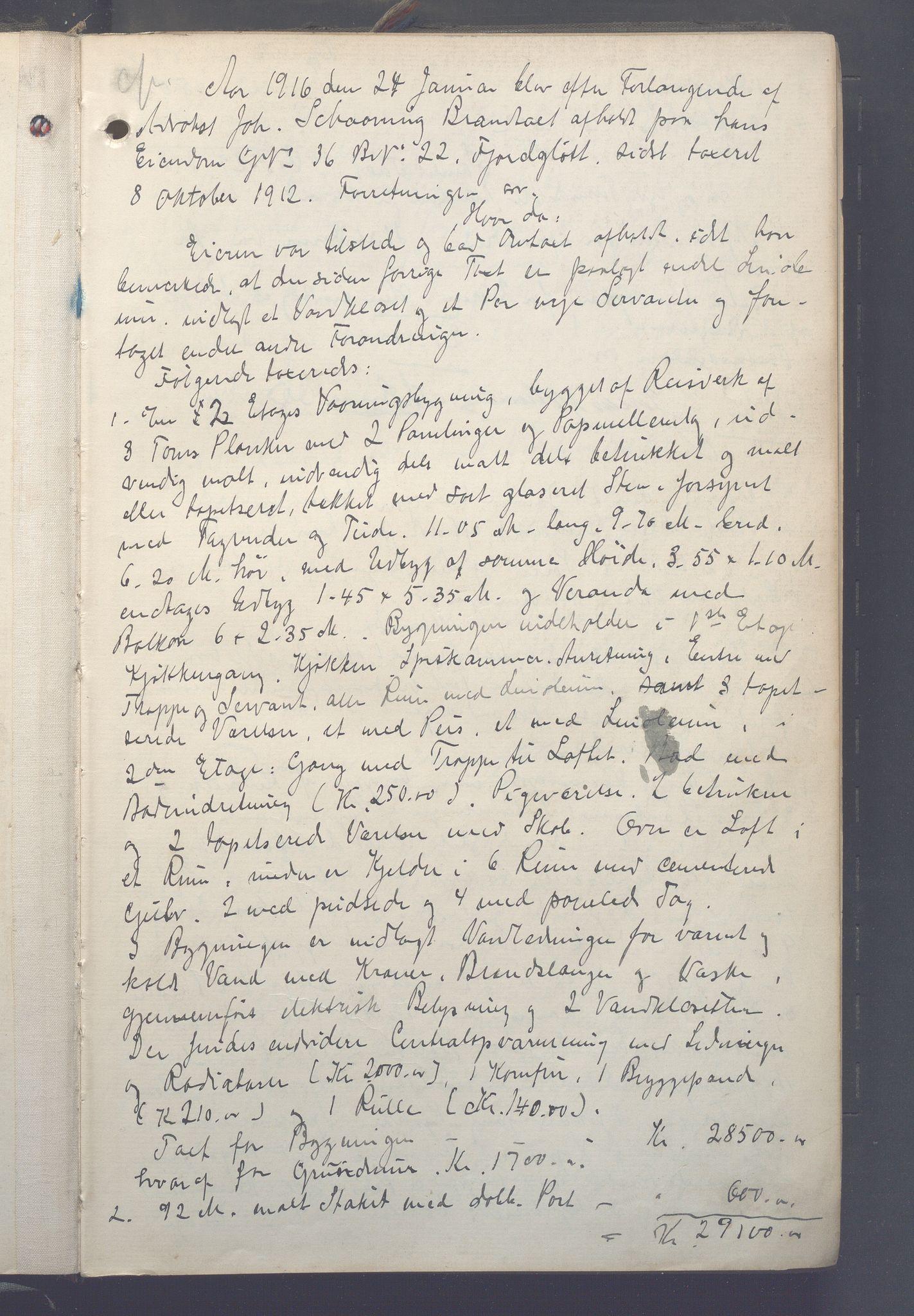 OBA, Lensmennene i Aker, F/Fa/L0018: Branntakstprotokoll, 1916-1918, s. 0a