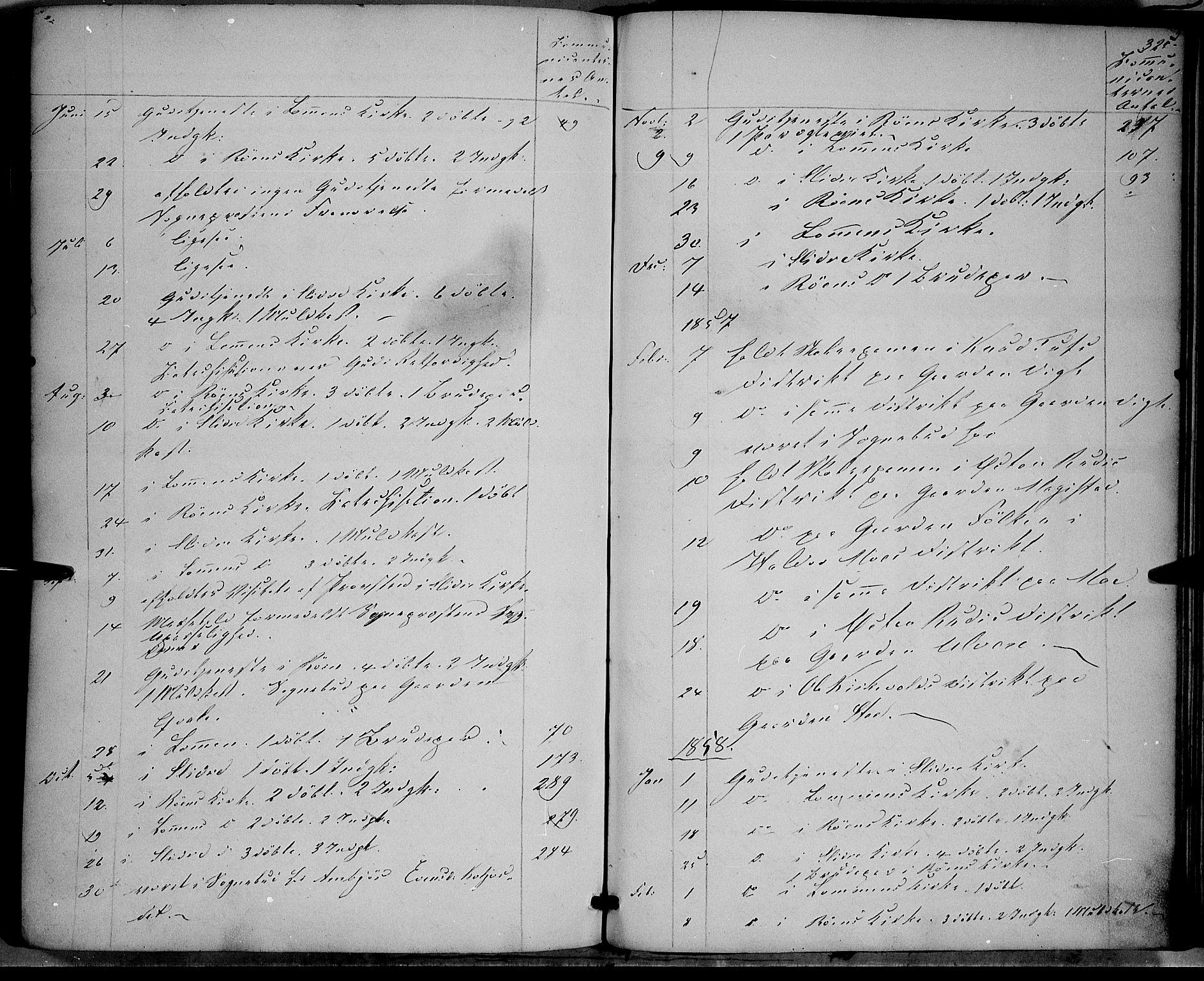 SAH, Vestre Slidre prestekontor, Ministerialbok nr. 2, 1856-1864, s. 325