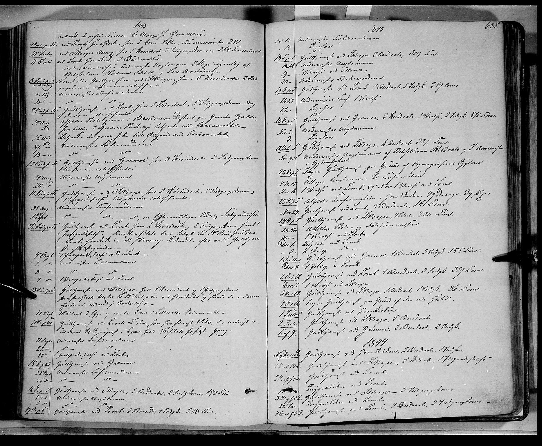 SAH, Lom prestekontor, K/L0006: Ministerialbok nr. 6B, 1837-1863, s. 635