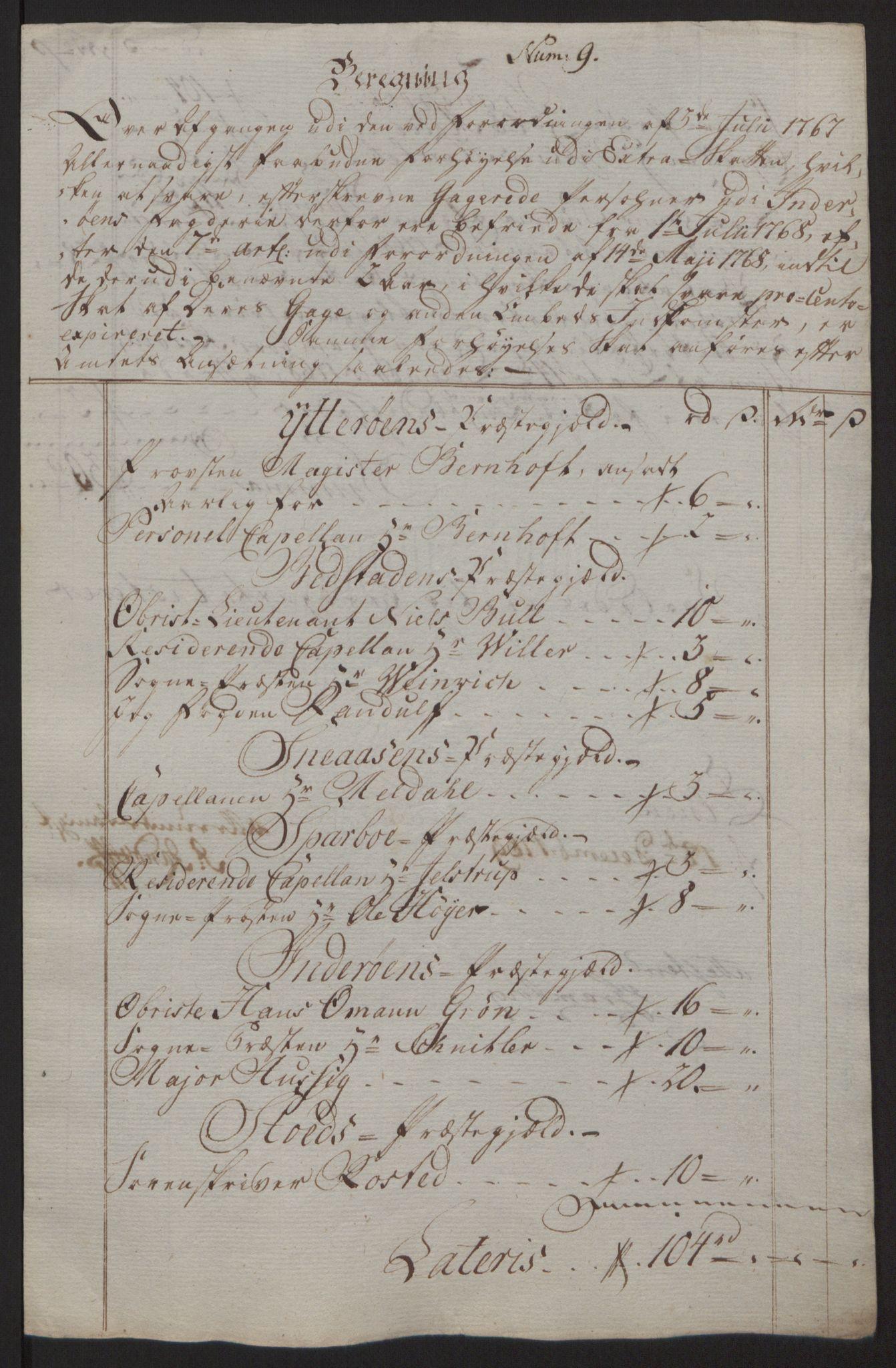 RA, Rentekammeret inntil 1814, Reviderte regnskaper, Fogderegnskap, R63/L4420: Ekstraskatten Inderøy, 1762-1772, s. 268