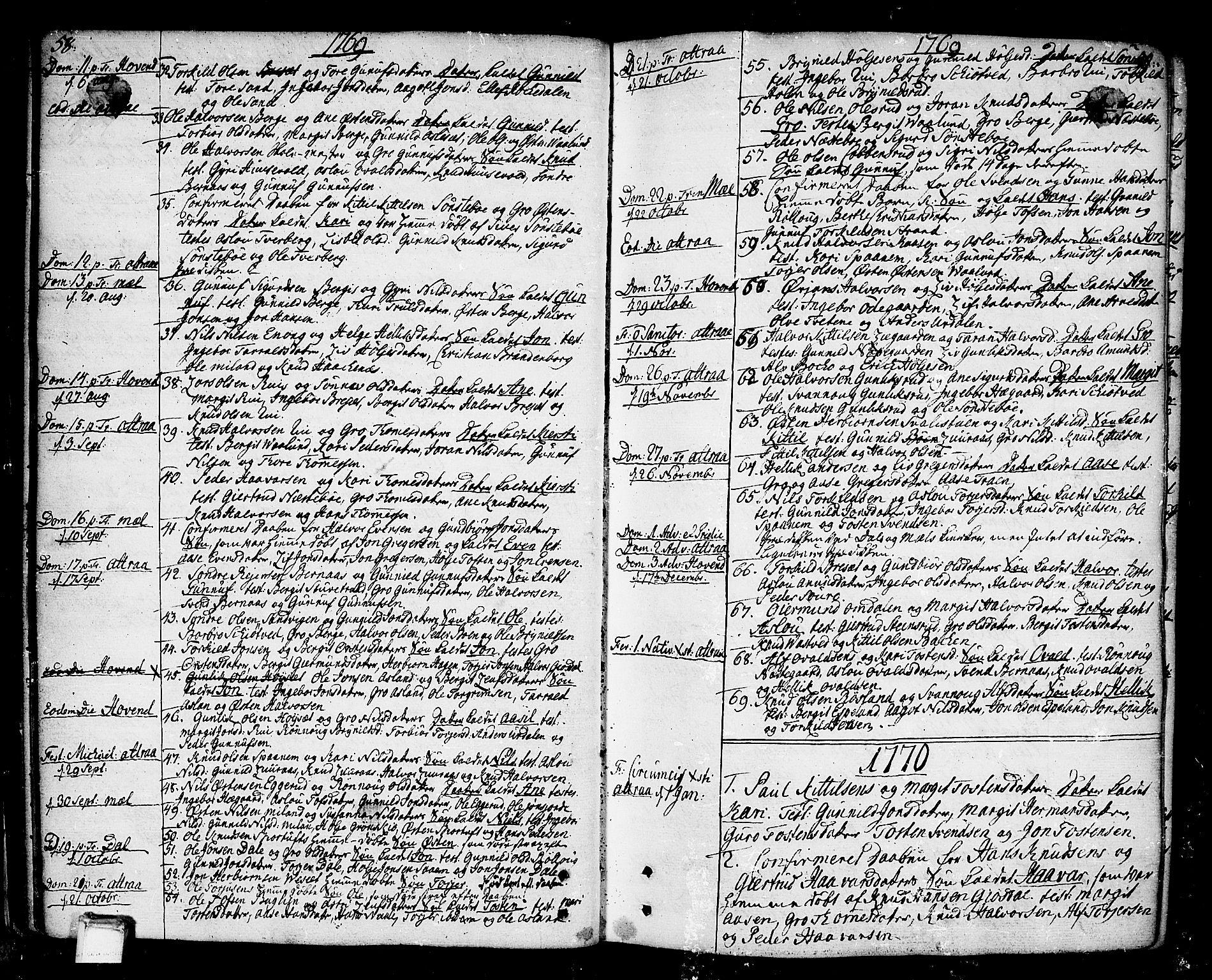 SAKO, Tinn kirkebøker, F/Fa/L0002: Ministerialbok nr. I 2, 1757-1810, s. 58-59
