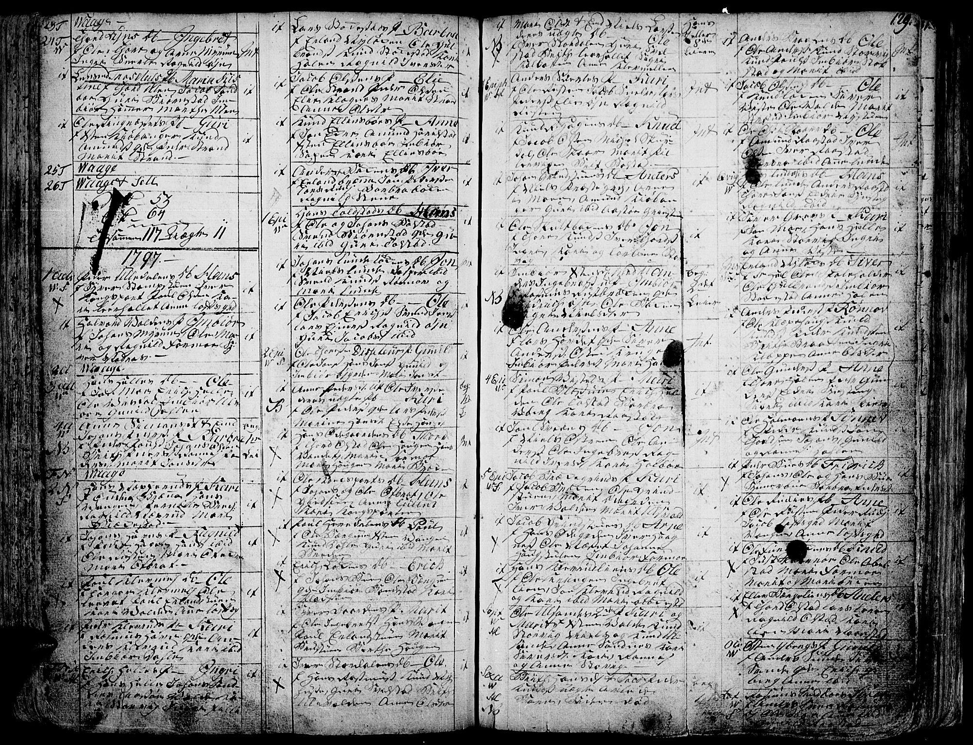 SAH, Vågå prestekontor, Ministerialbok nr. 1, 1739-1810, s. 129