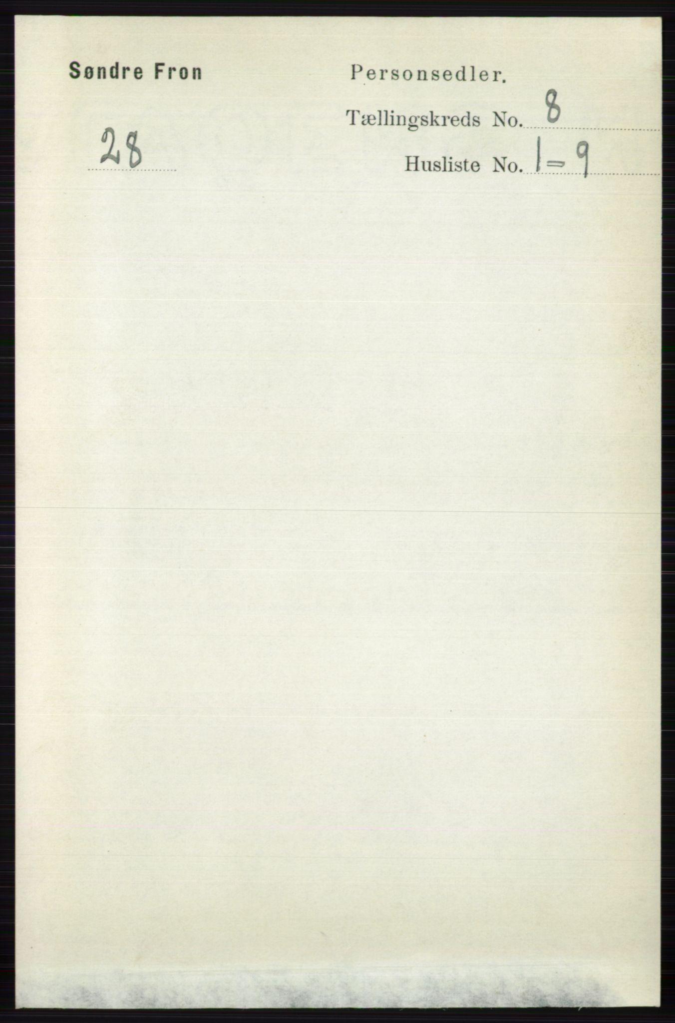 RA, Folketelling 1891 for 0519 Sør-Fron herred, 1891, s. 3718