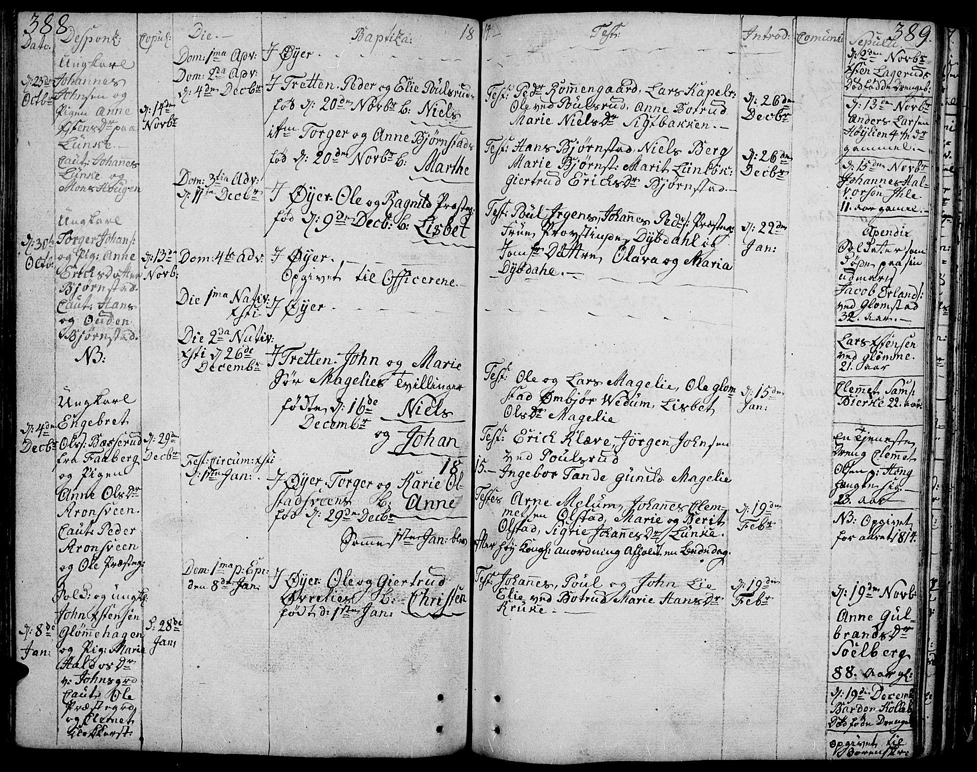 SAH, Øyer prestekontor, Ministerialbok nr. 3, 1784-1824, s. 388-389